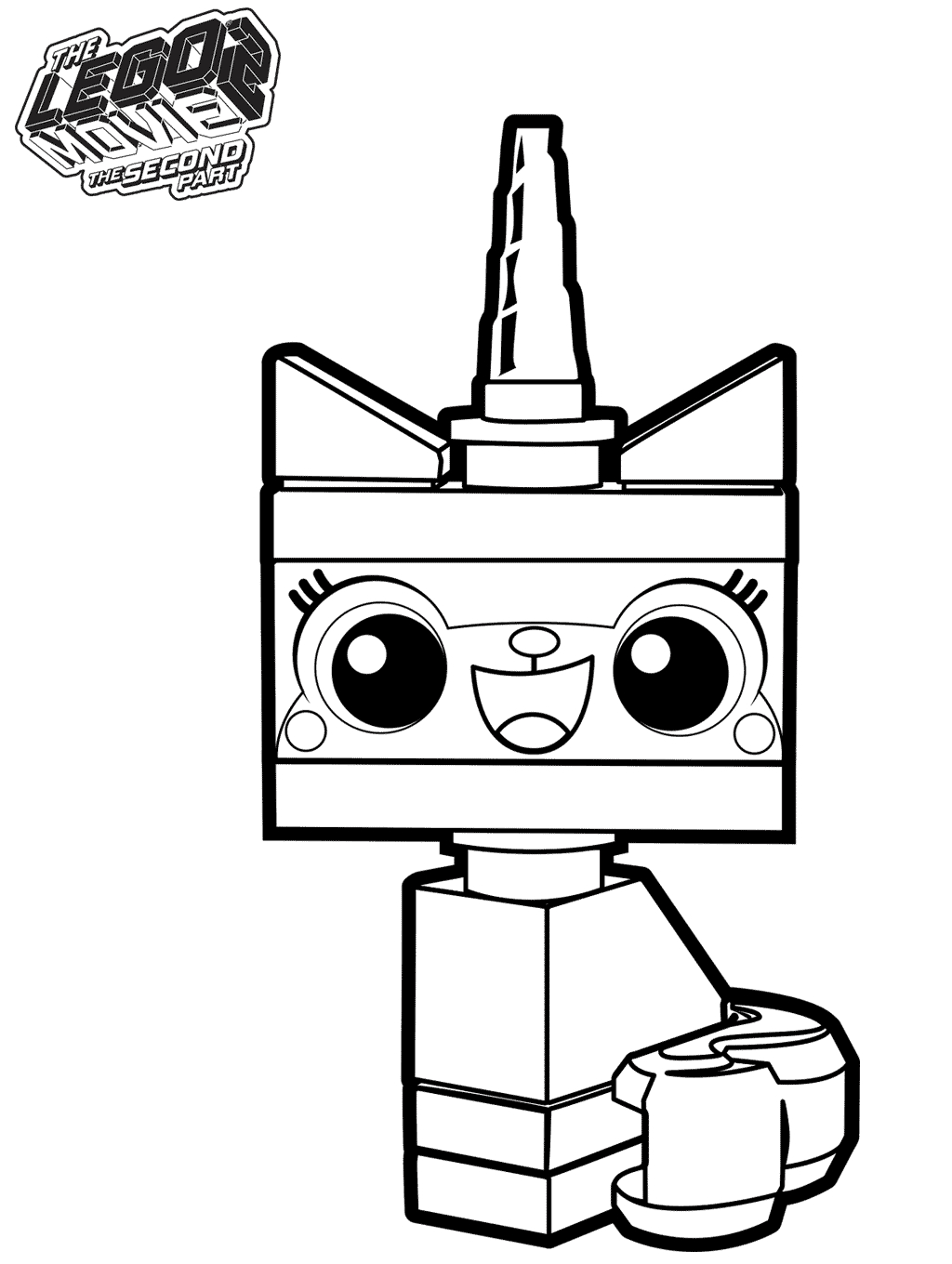 Lego Movie Color Pages Lego Movie Coloring Pages Unikitty