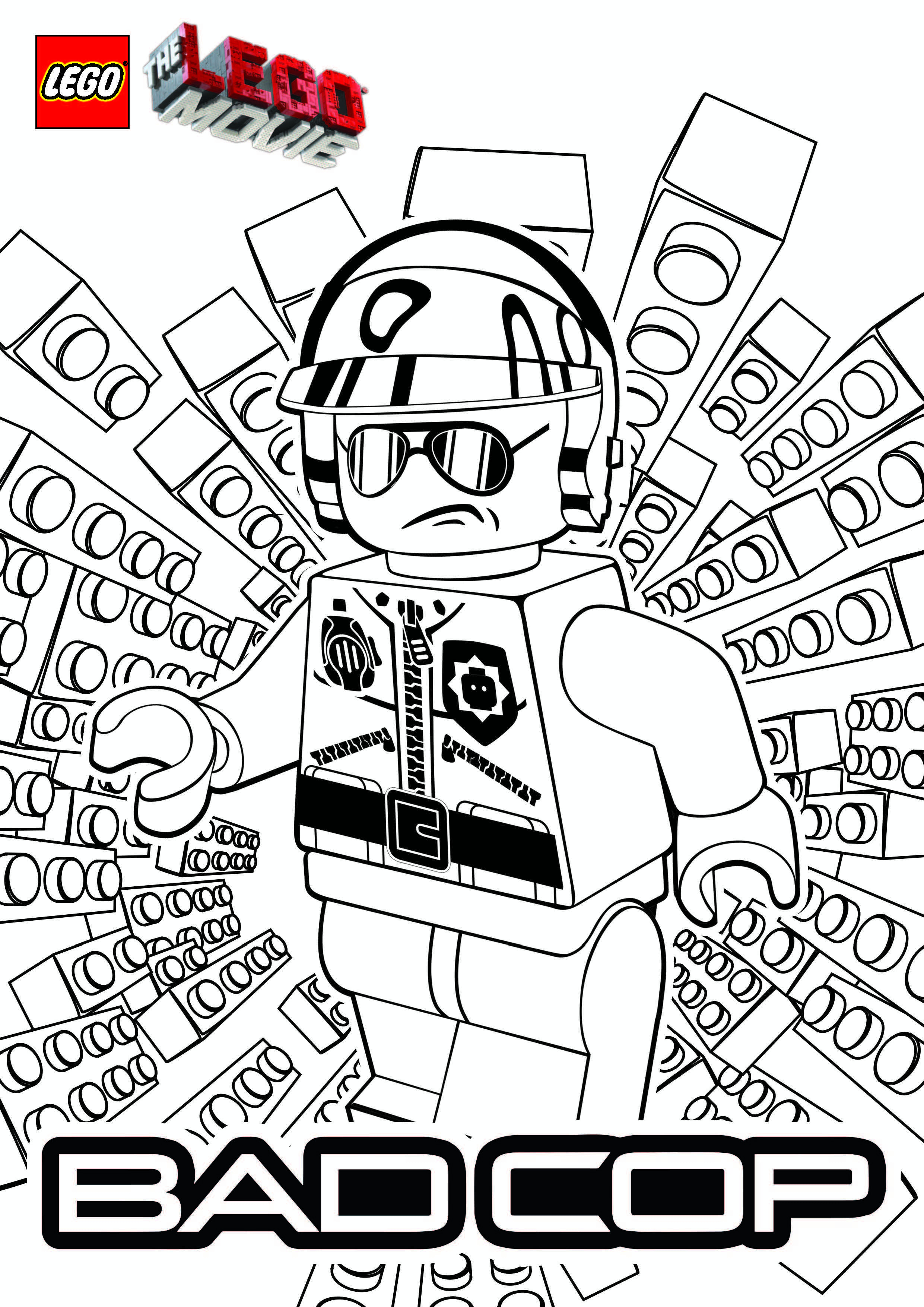 Lego Movie Color Pages Lego Movie Coloring Pages