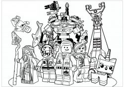 Lego Movie Color Pages Lego Movie Movies Adult Coloring Pages