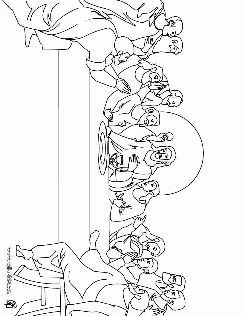 Leonardo Da Vinci The Last Supper Coloring Page Coloring Book World Coloring Page For Kids Printable Jesus Last