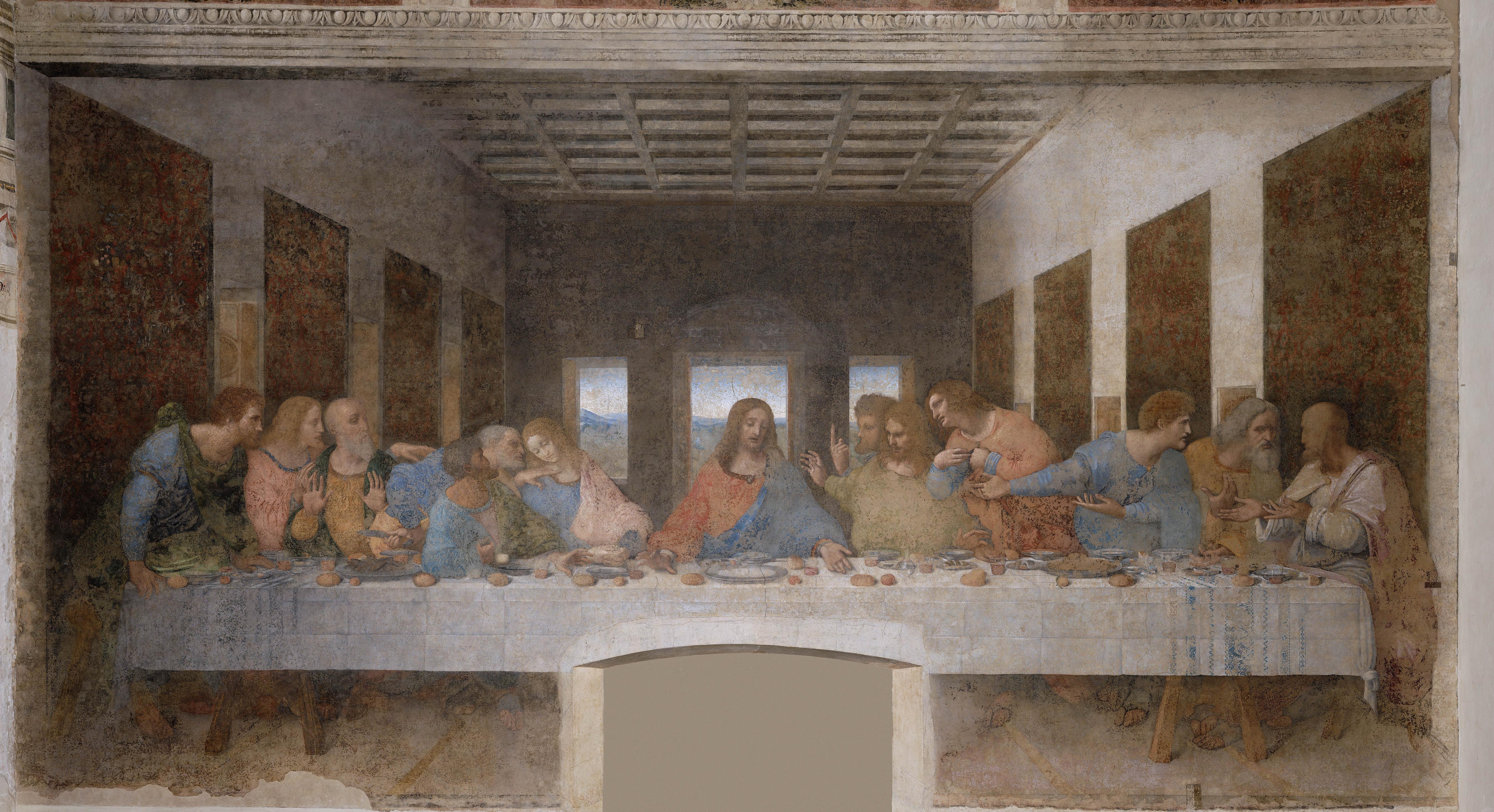 Leonardo Da Vinci The Last Supper Coloring Page Fileleonardo Da Vinci The Last Supper High Res Wikimedia