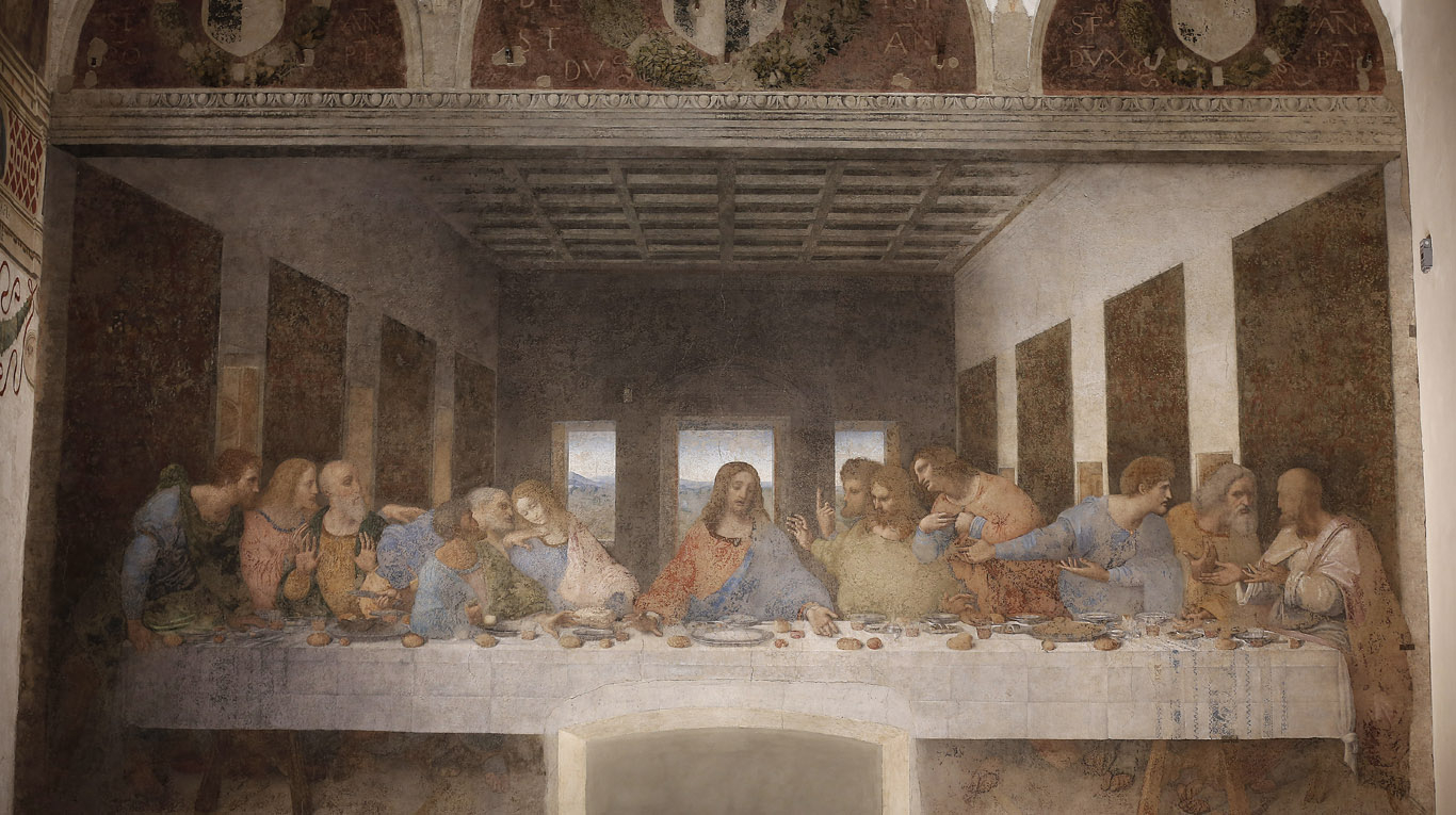 Leonardo Da Vinci The Last Supper Coloring Page How Did They Do That Lighting The Last Supper Lux Review