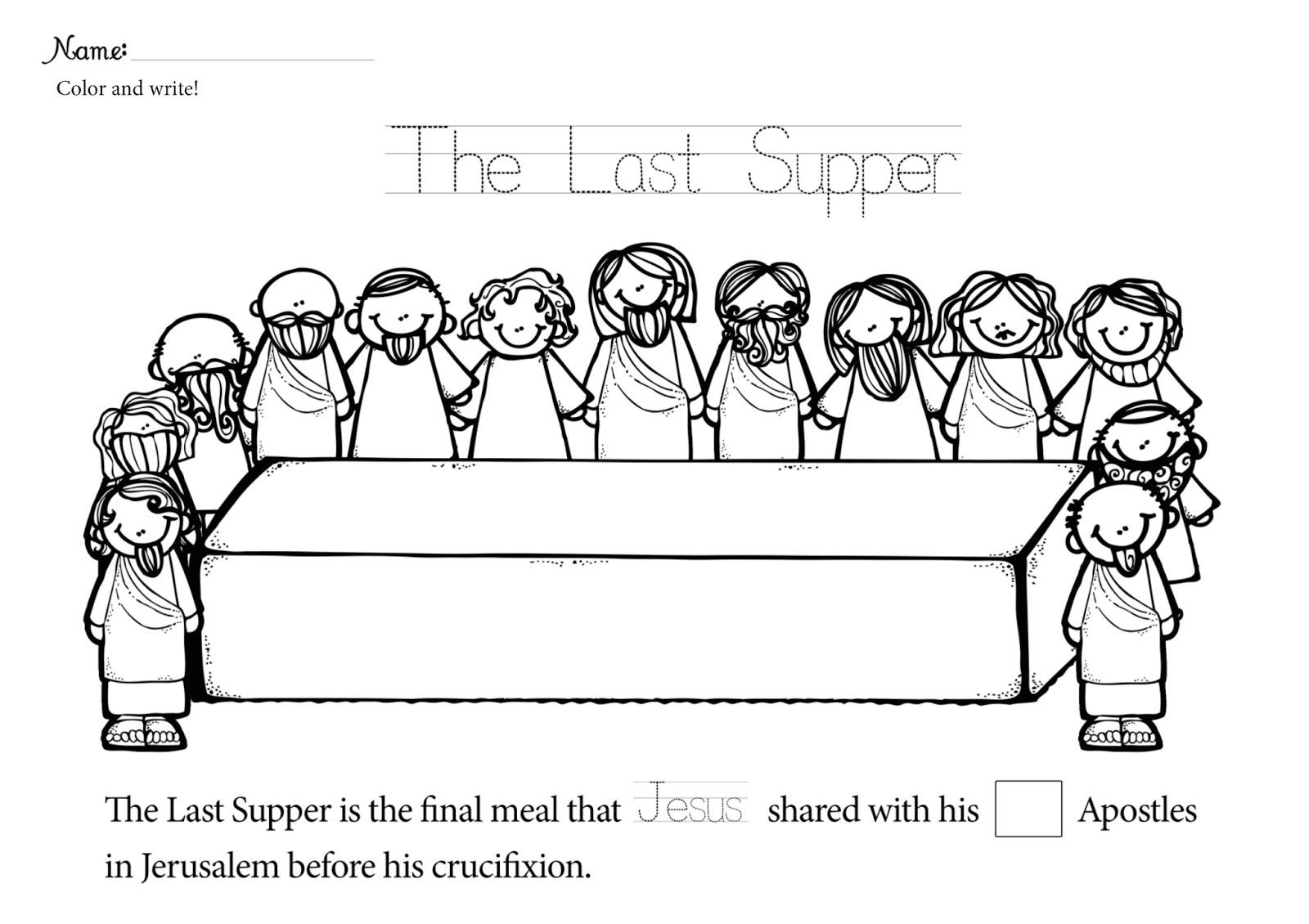 Leonardo Da Vinci The Last Supper Coloring Page Jesus Last Supper Coloring Pages