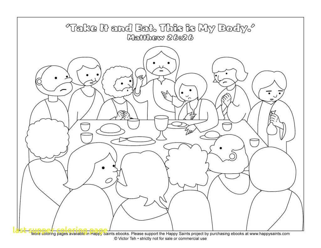 Leonardo Da Vinci The Last Supper Coloring Page Last Supper Coloring Page With Jesus Christ Printable For The Of