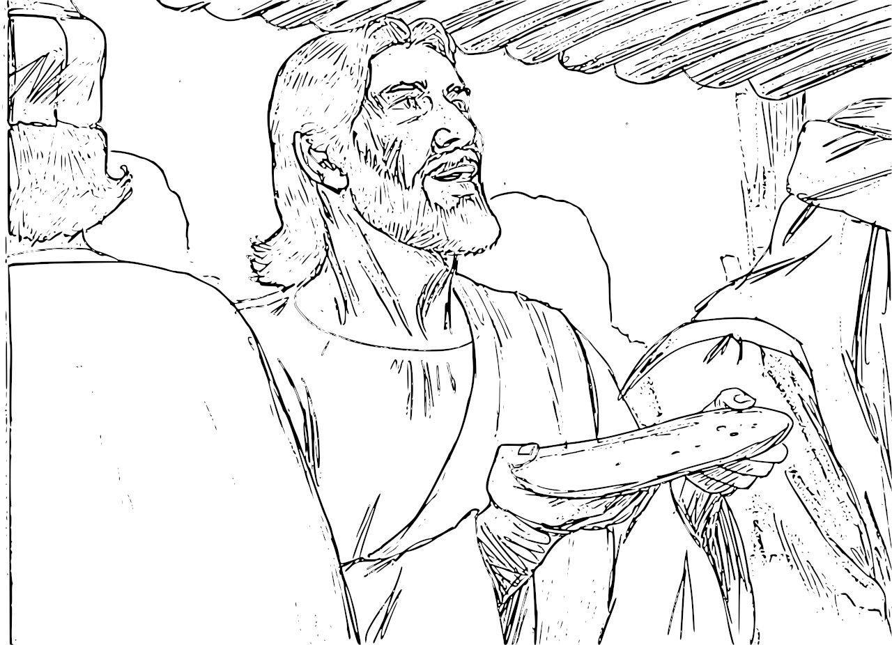 Leonardo Da Vinci The Last Supper Coloring Page Last Supper Coloring Pages Coloring Pages Of Last Supper Best