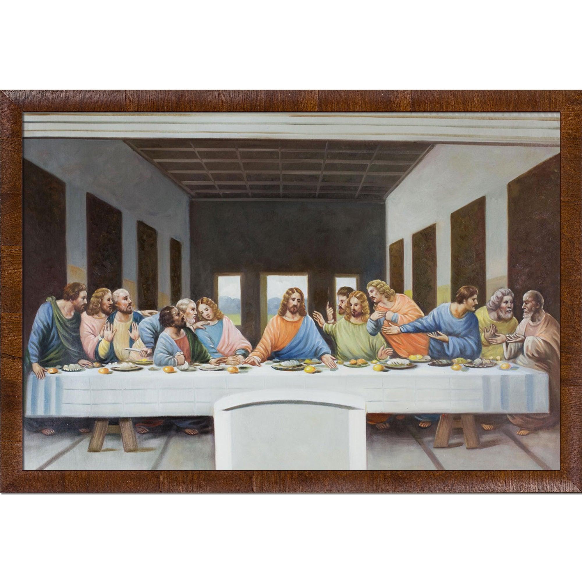 Leonardo Da Vinci The Last Supper Coloring Page Leonardo Da Vinci The Last Supper Hand Painted Oil Reproduction