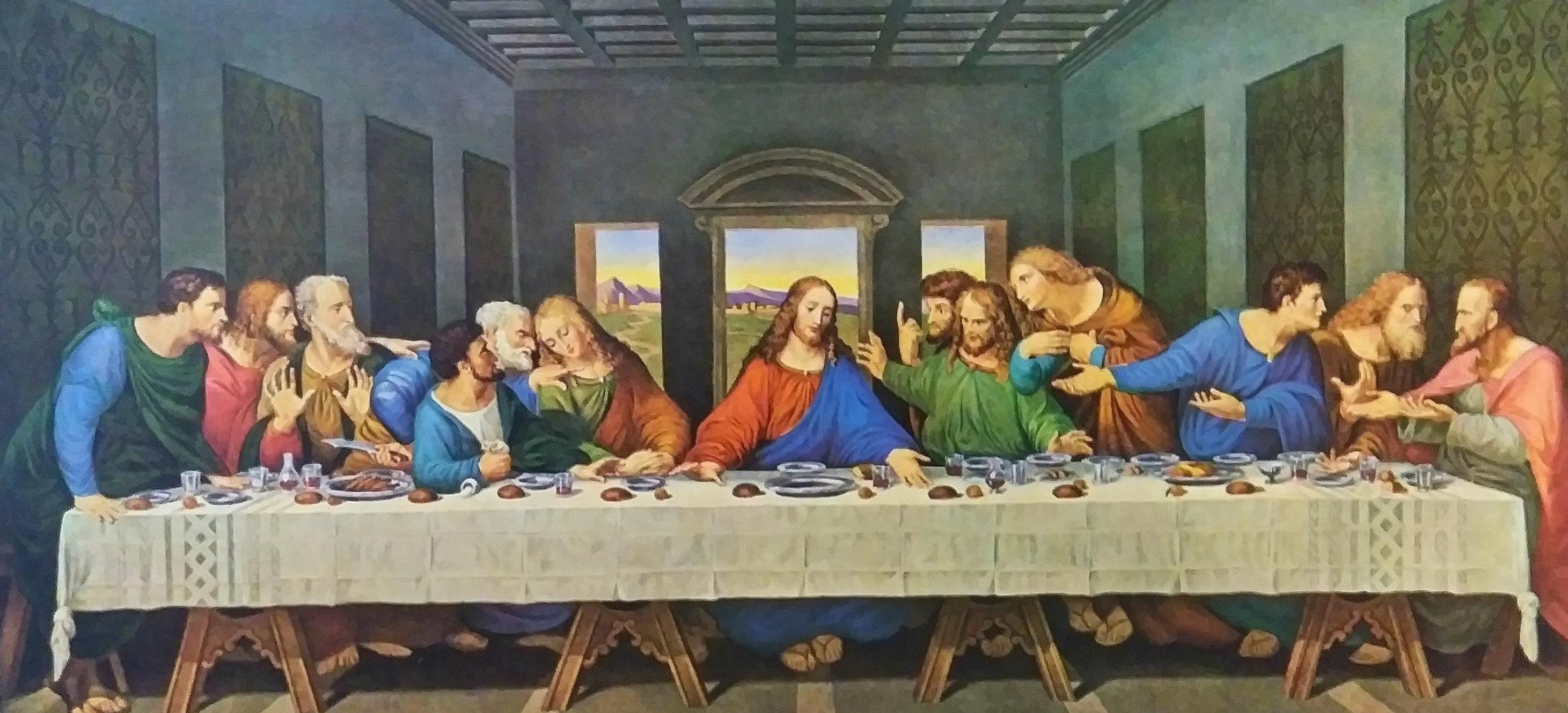 Leonardo Da Vinci The Last Supper Coloring Page The Last Supper Fresco Leonardo Da Vinci Fine Art Print Jesus And Disciples Religious Art Christian Art