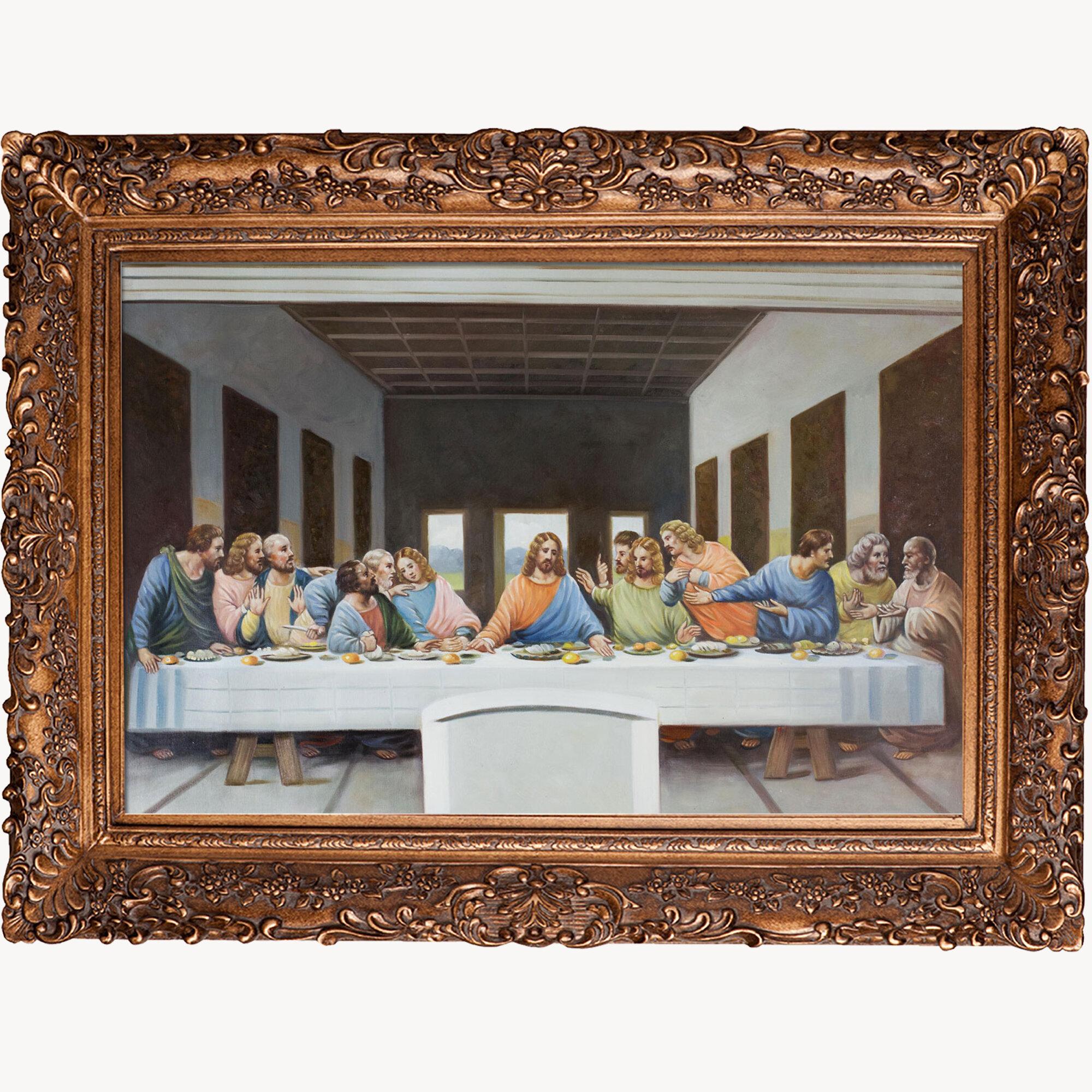 Leonardo Da Vinci The Last Supper Coloring Page The Last Supper Leonardo Da Vinci Framed Painting Print