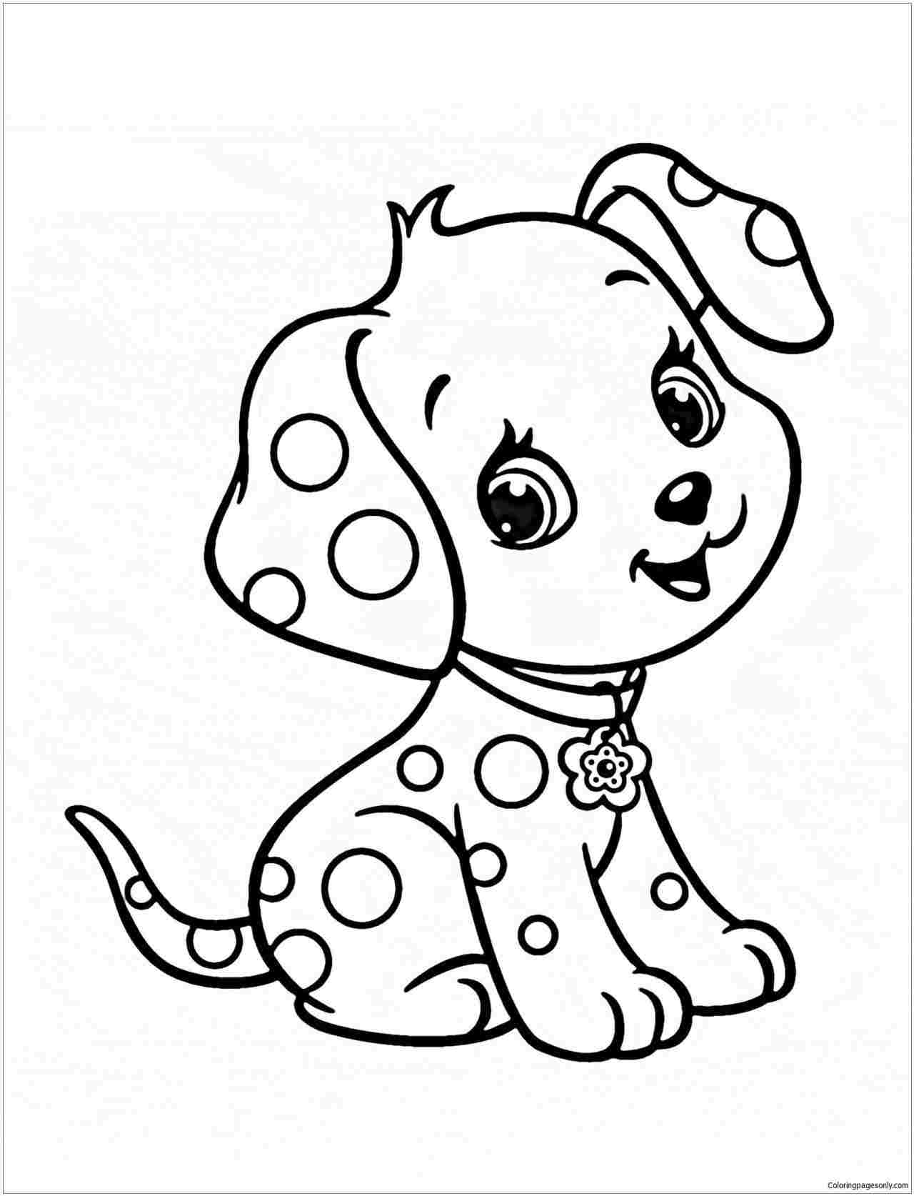 Little Puppy Coloring Pages How Cute Puppy Drawings For Kids To Draw A Drawing