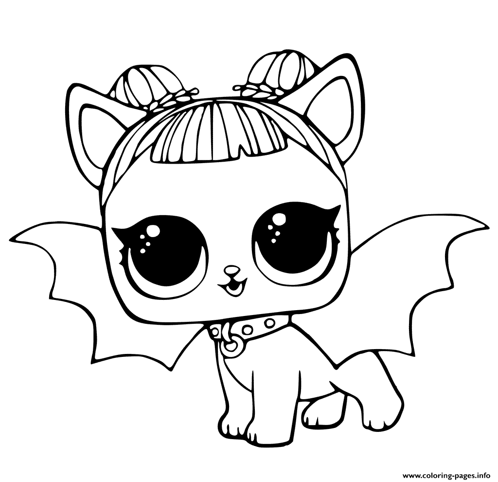 Little Puppy Coloring Pages Lol Pets Coloring Pages Cute Midnight Pup With Devil Wings Coloring
