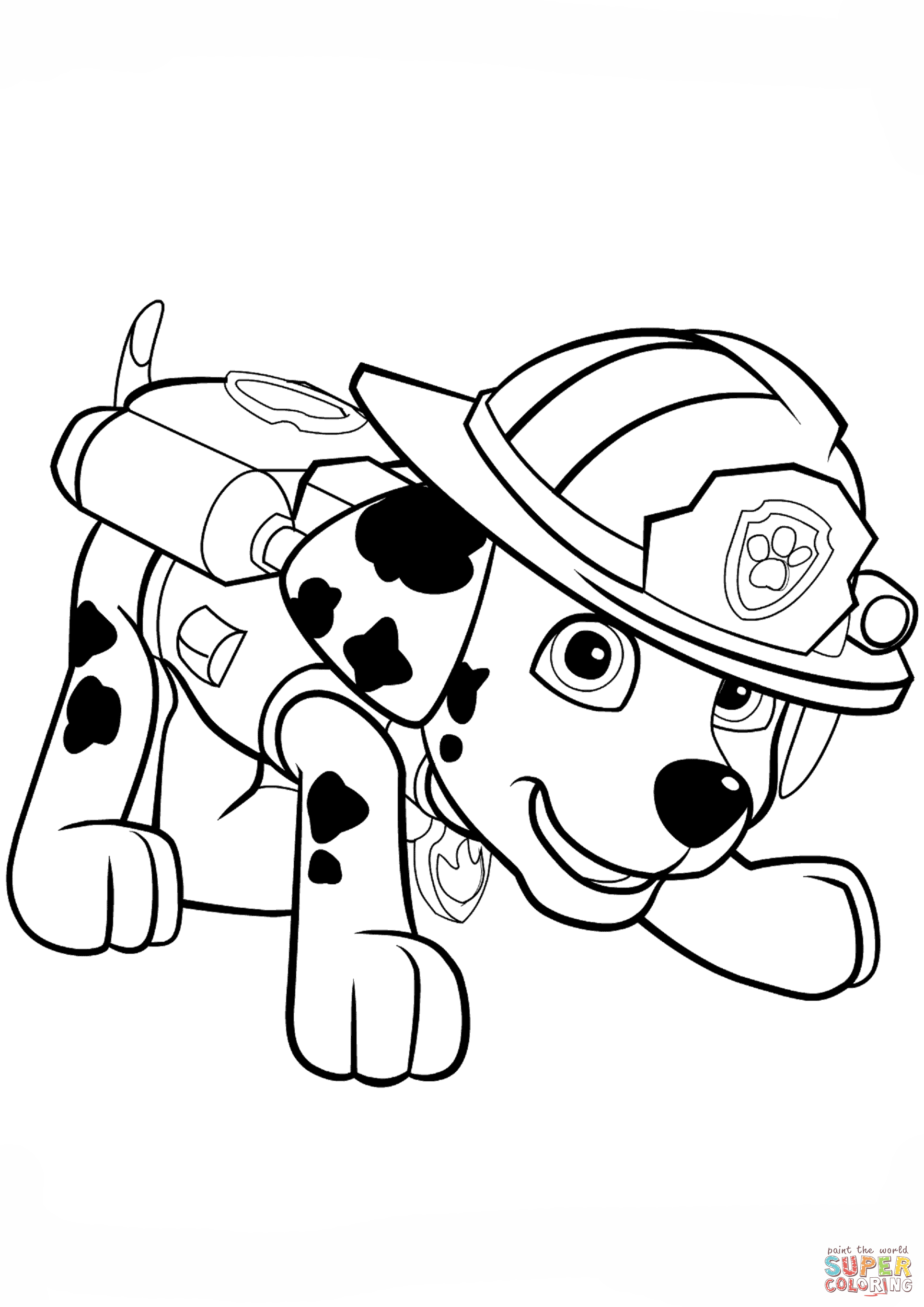 Little Puppy Coloring Pages Paw Patrol Marshall Puppy Coloring Page Free Printable Coloring Pages