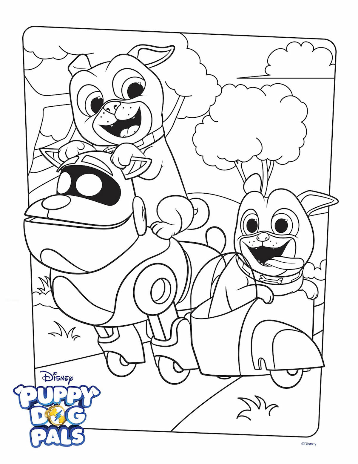 Little Puppy Coloring Pages Puppy Dog Pals Coloring Page Activity Disney Family