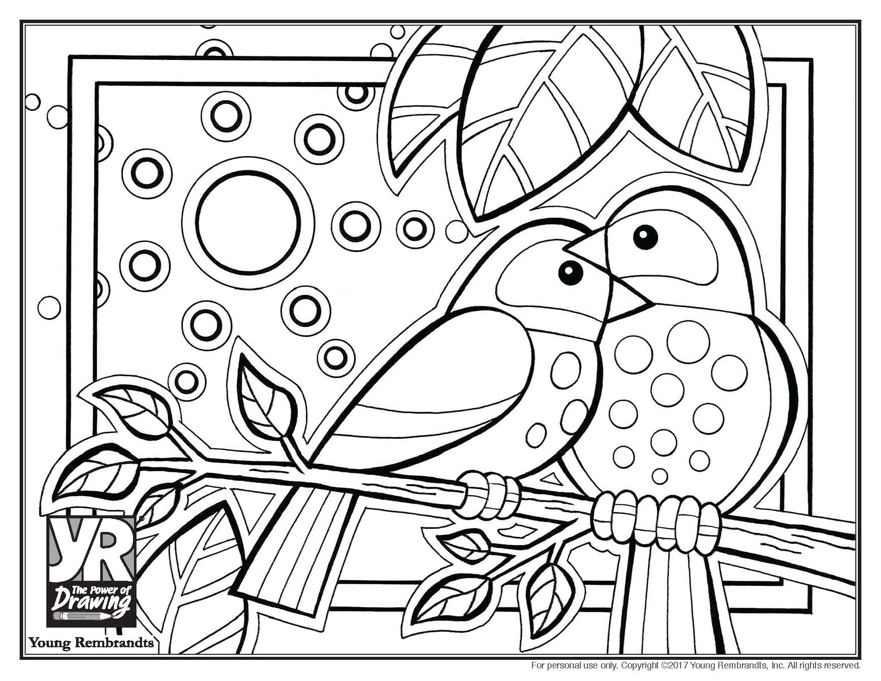 Love Bird Coloring Pages Birds Coloring Page