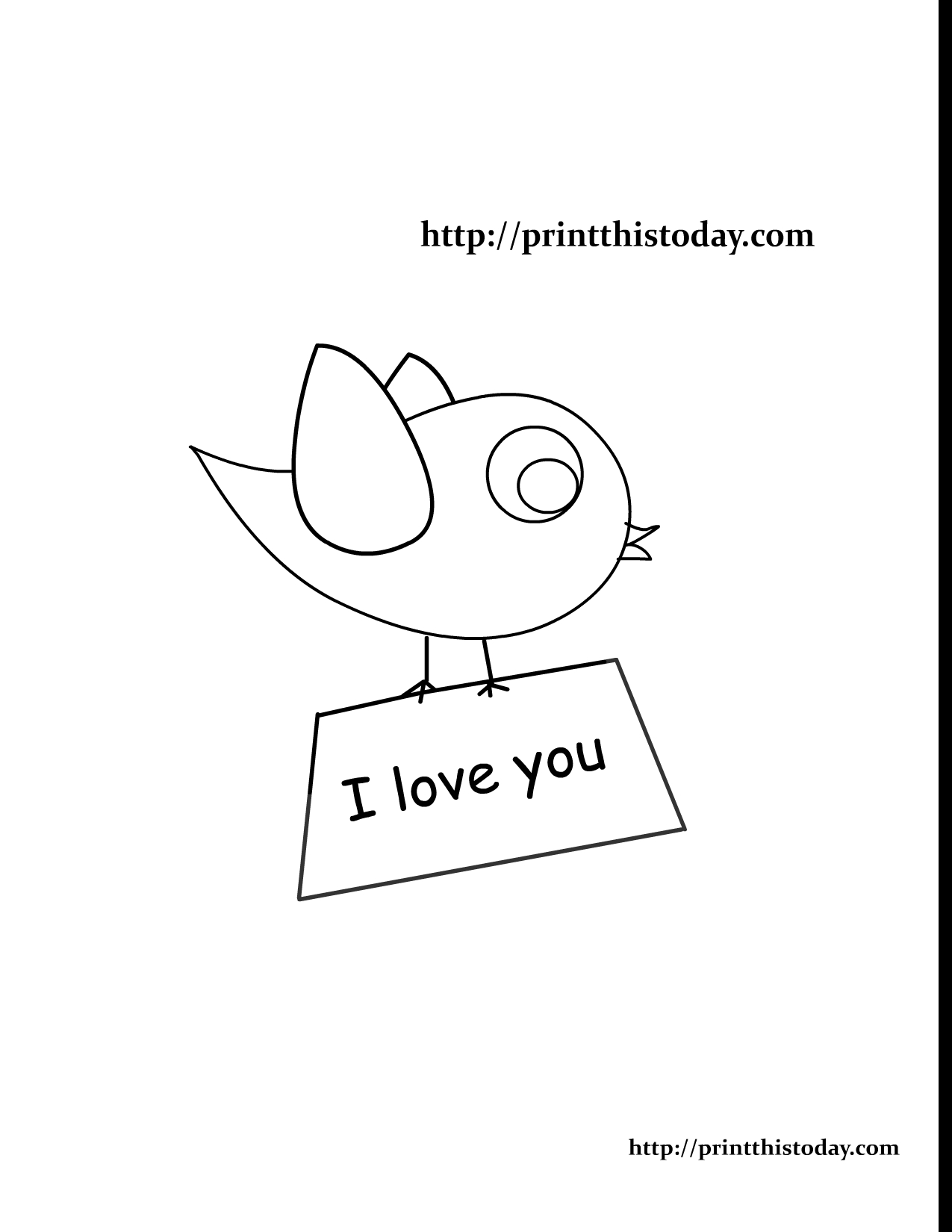 Love Bird Coloring Pages Free Printable Love Coloring Pages