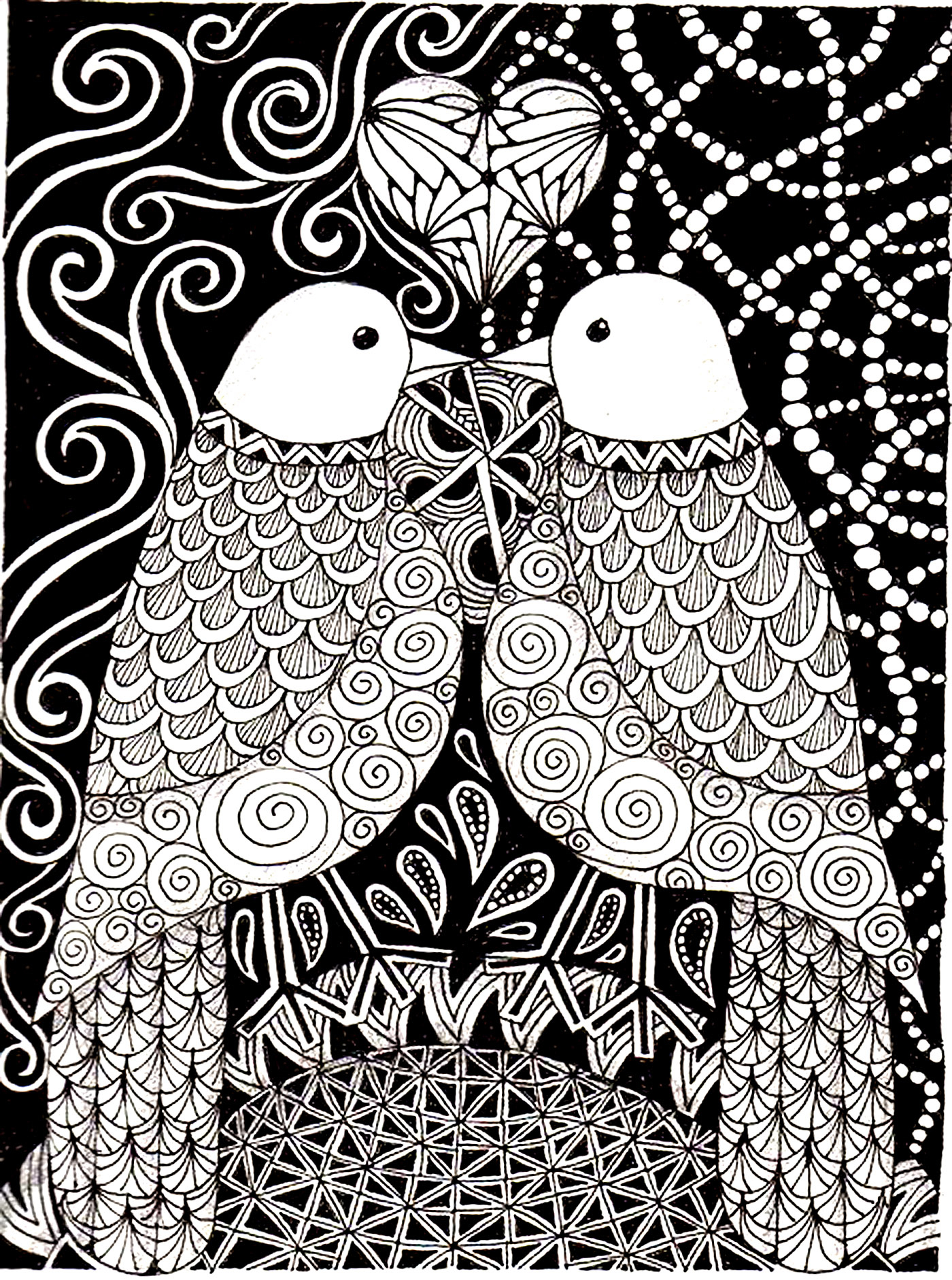 Love Bird Coloring Pages Love Birds Birds Adult Coloring Pages