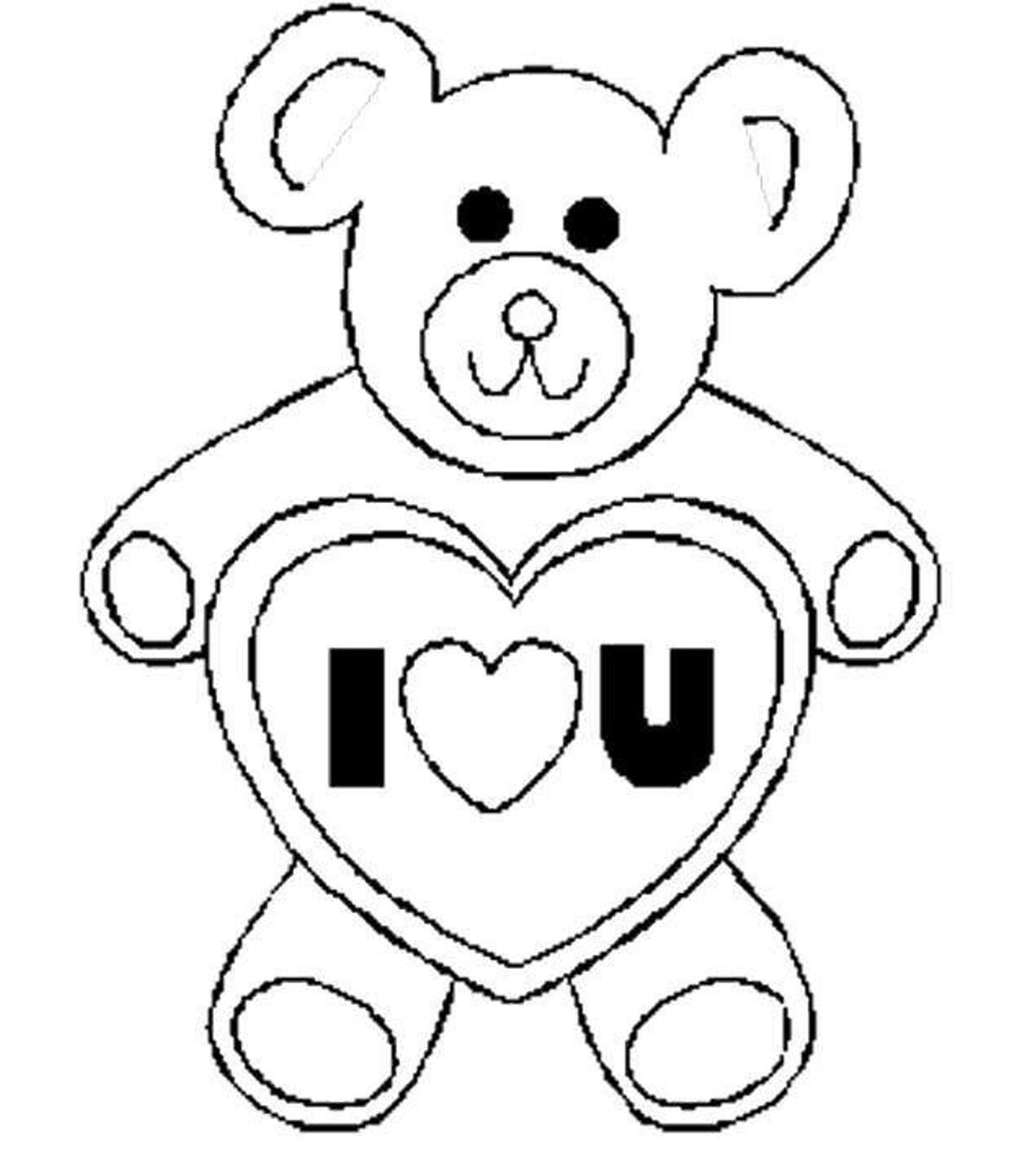 Love Bird Coloring Pages Valentines Day Coloring Pages Bear I Love U Valentine Coloring
