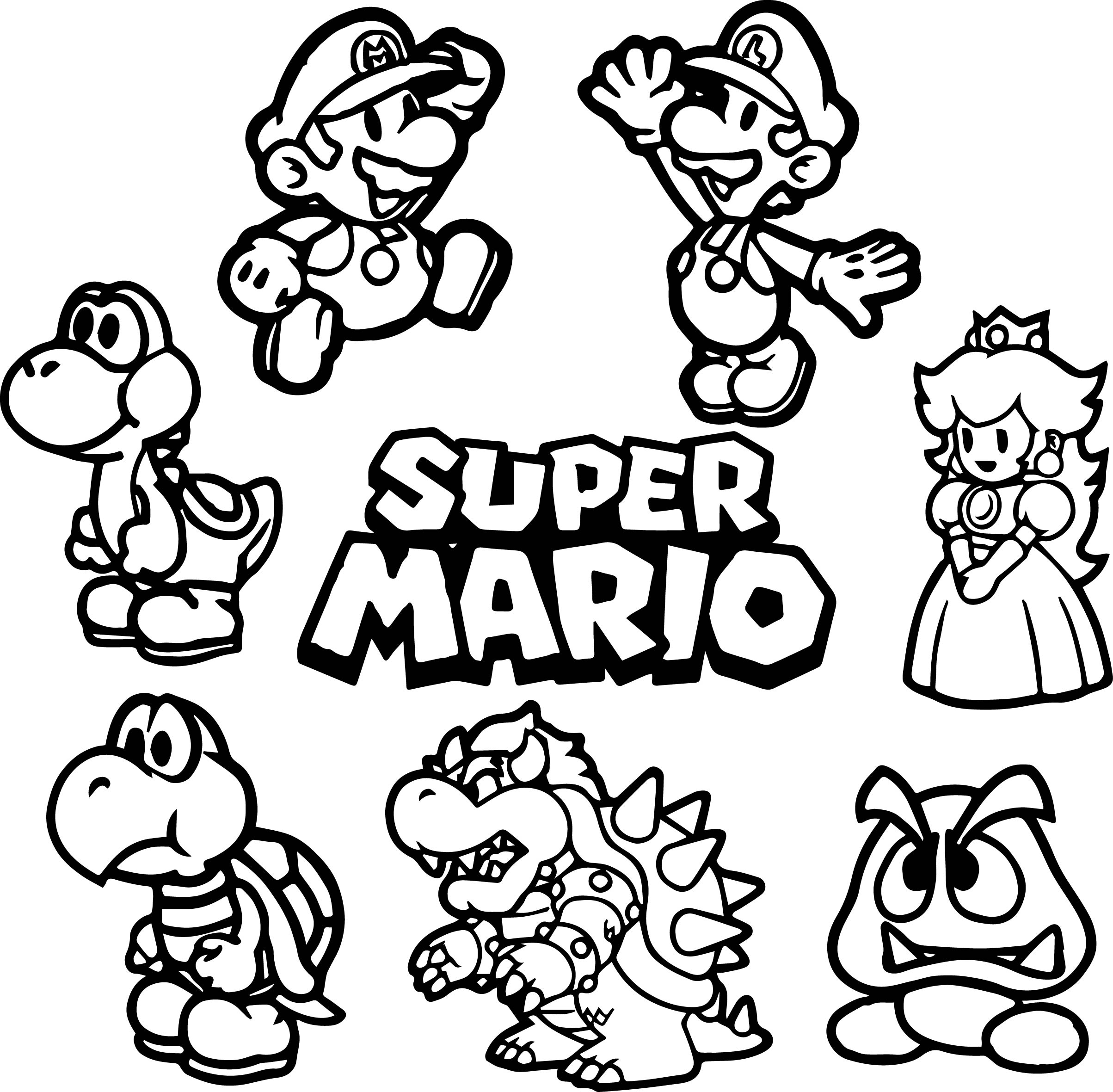 Mario Coloring Pages To Print Coloring Ideas Coloring Ideas Mario And Luigi Sheets All Super