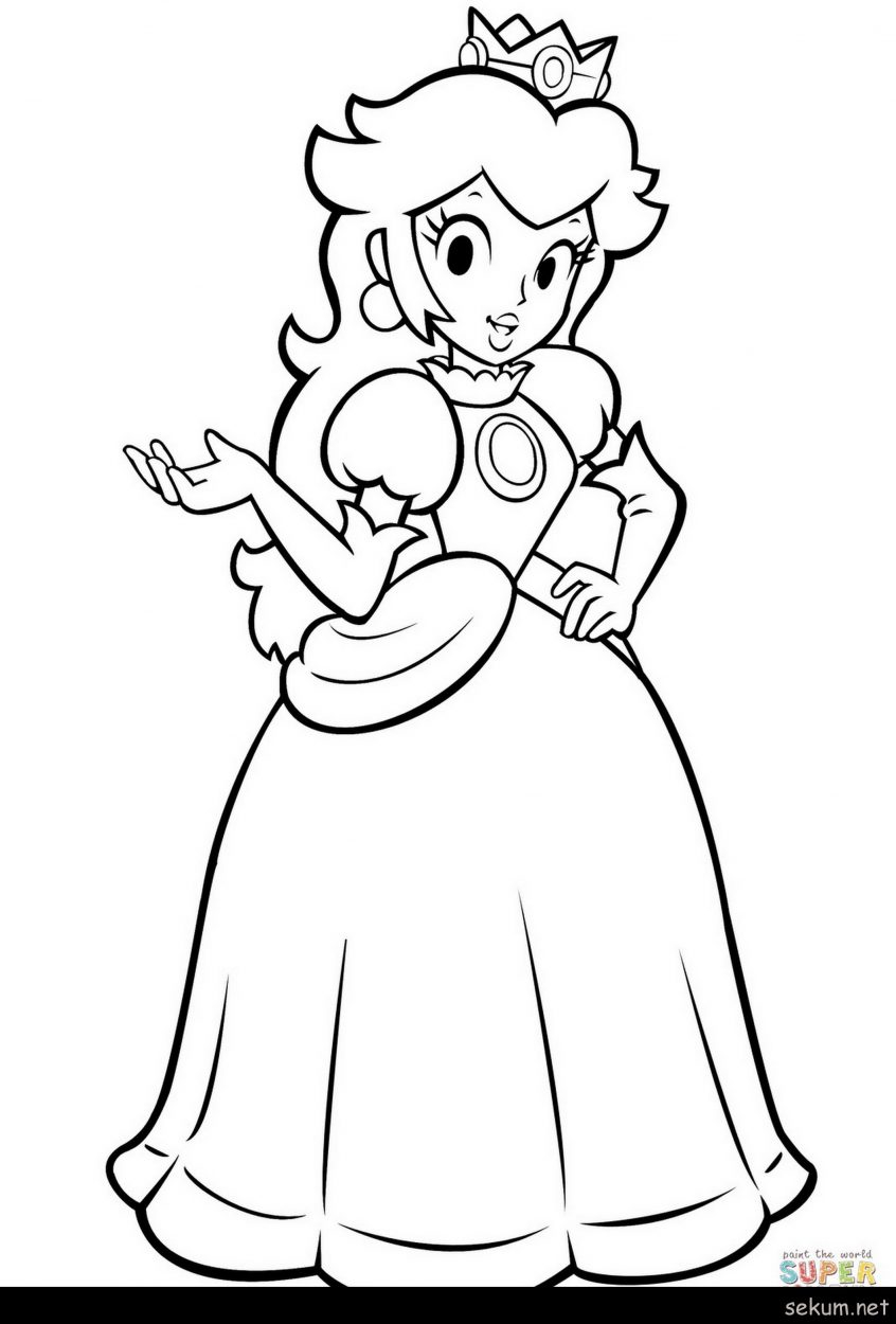 Mario Coloring Pages To Print Coloring Little Princess Coloring Pages To Print Fresh Mario Bros