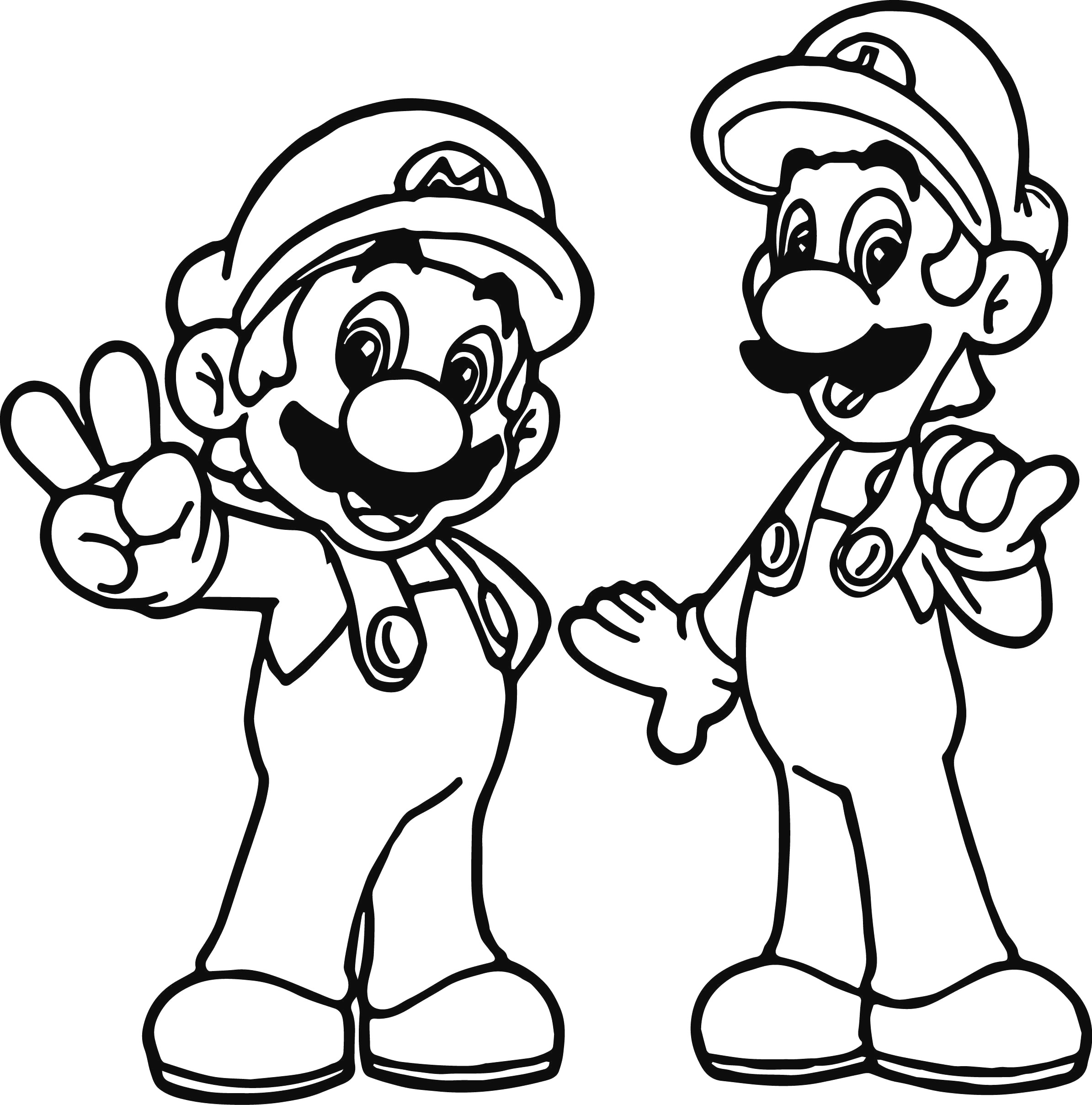 Mario Coloring Pages To Print Coloring Pages Mario And Luigi Coloring Page Pages Of Pictures To