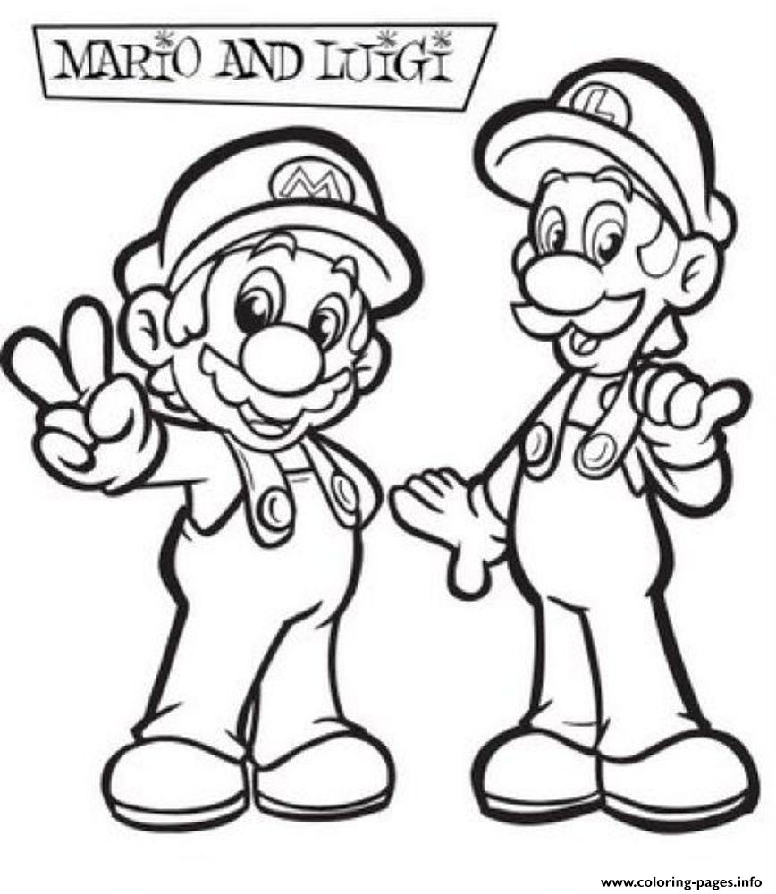 Mario Coloring Pages To Print Coloring Pages Mario And Luigi Coloring Sheets 1452798999awesome