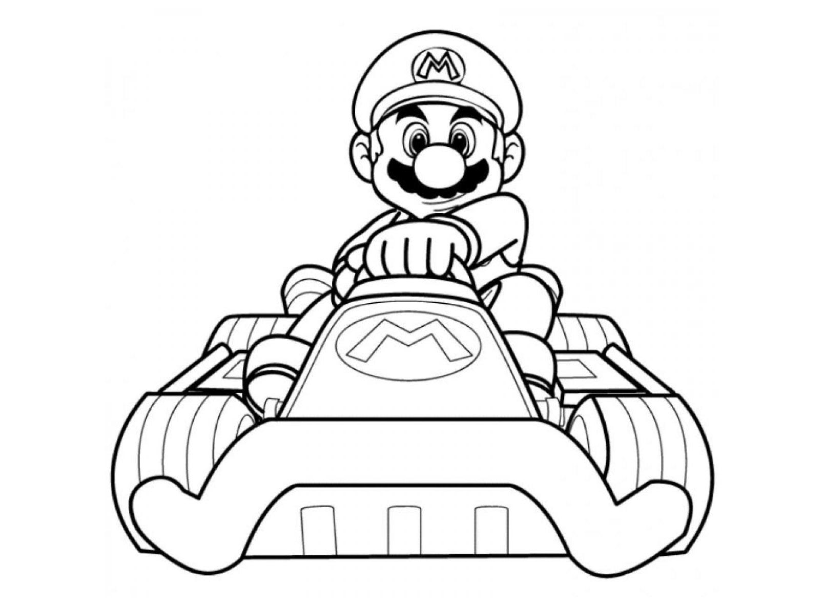 Mario Coloring Pages To Print Mario Kart Free To Color For Kids Mario Kart Kids Coloring Pages