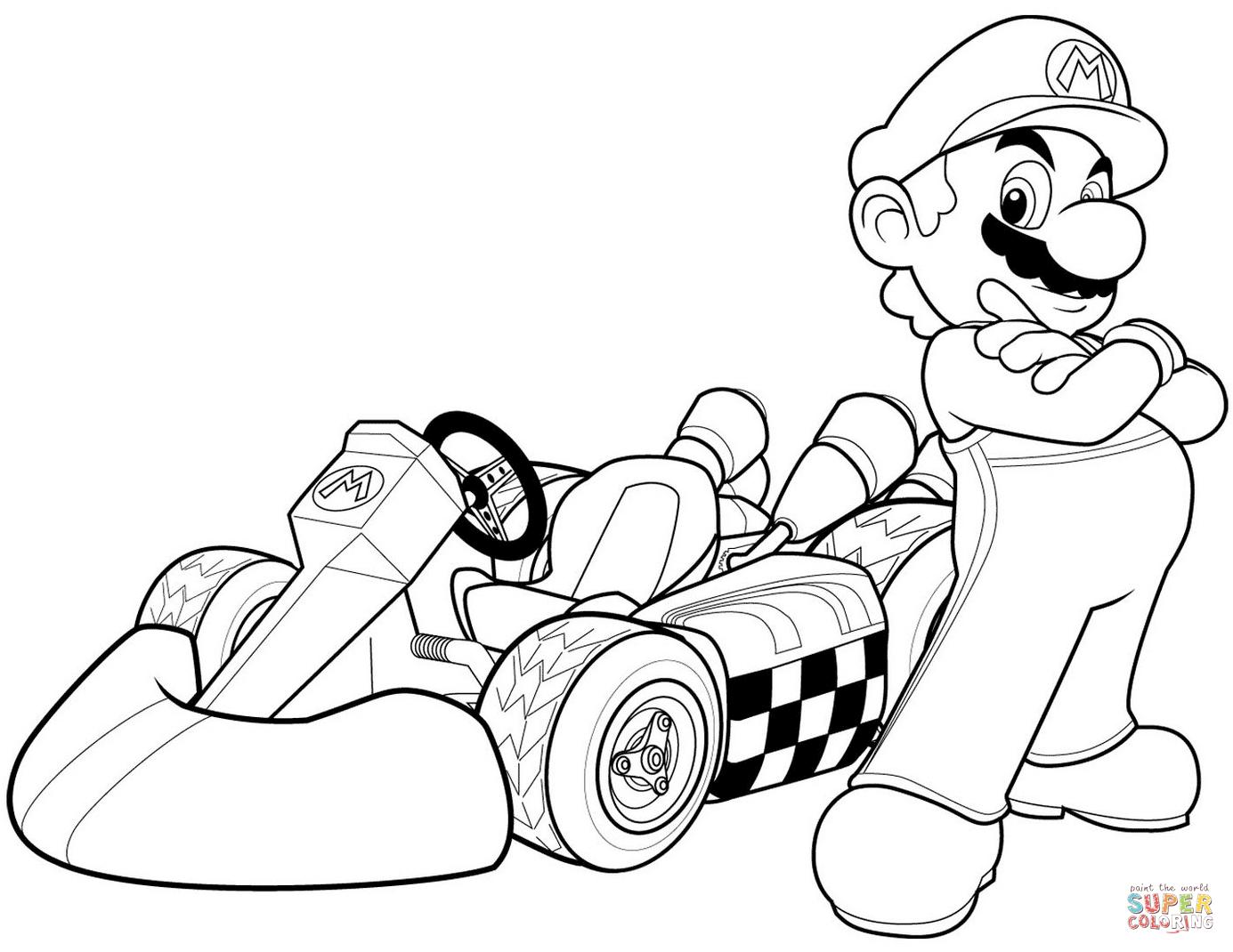 Mario Coloring Pages To Print Super Mario Bros Coloring Pages Free Coloring Pages