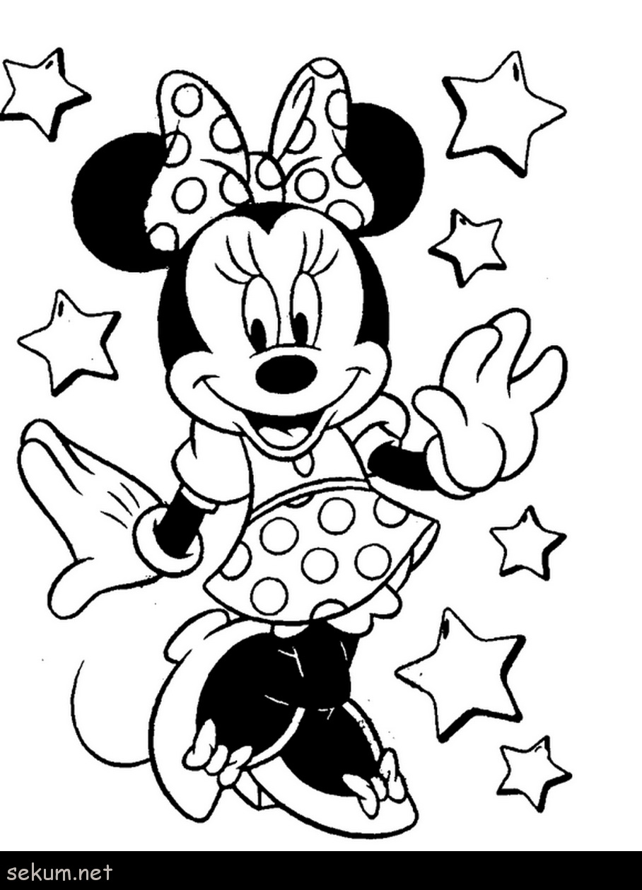 Mickey Mouse And Minnie Coloring Pages Coloring Book Disney Mickey Mouse Coloring Pages Stars Minnie