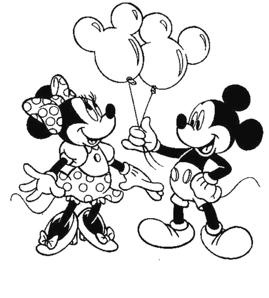 Mickey Mouse And Minnie Coloring Pages Coloring Pages Marvinhe Martian Coloring Pictureso Printinkerbell