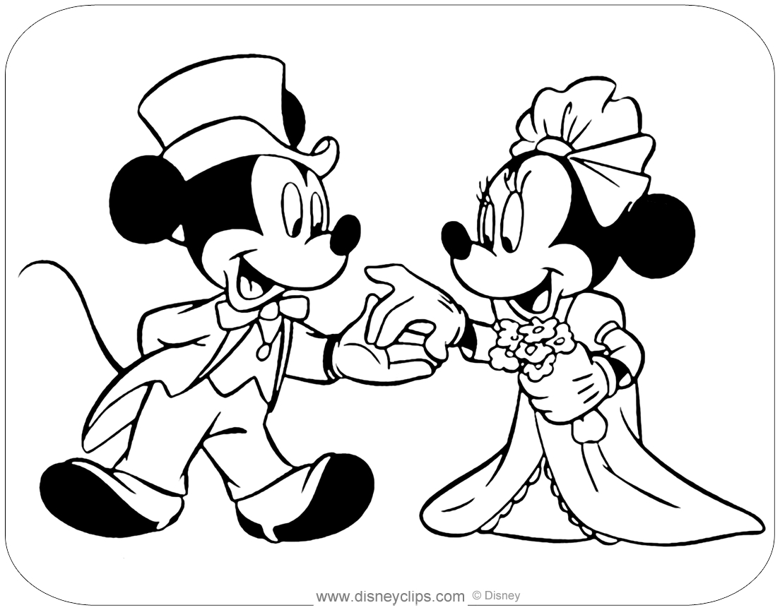 Mickey Mouse And Minnie Coloring Pages Mickey And Minnie Mouse Coloring Pages Disneyclips