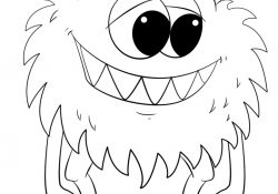 Monster Coloring Pages To Print Coloring Pages Cute Cartoon Monster Coloring Page Freeble Pages