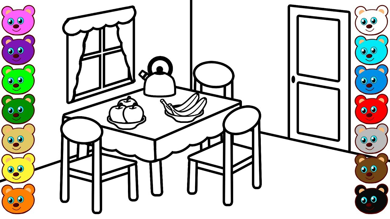 My Room Coloring Pages Dining Room Coloring Pages And Art Colors