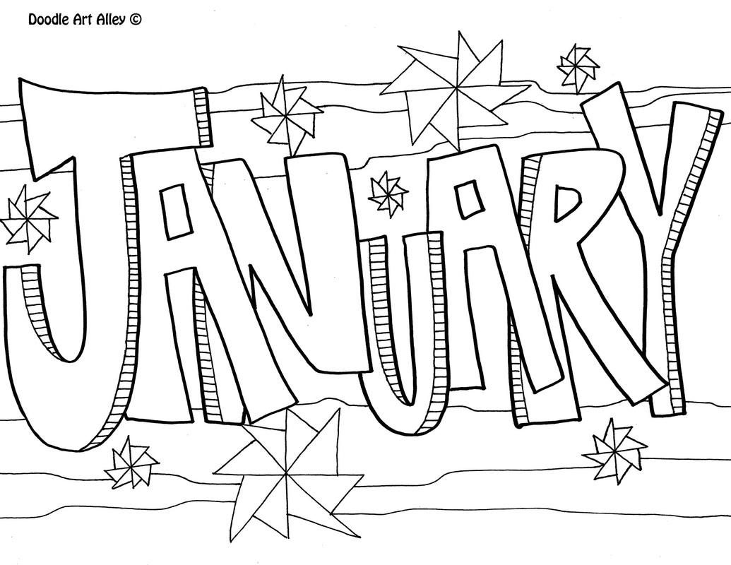 My Room Coloring Pages Months Of The Year Coloring Pages Classroom Doodles