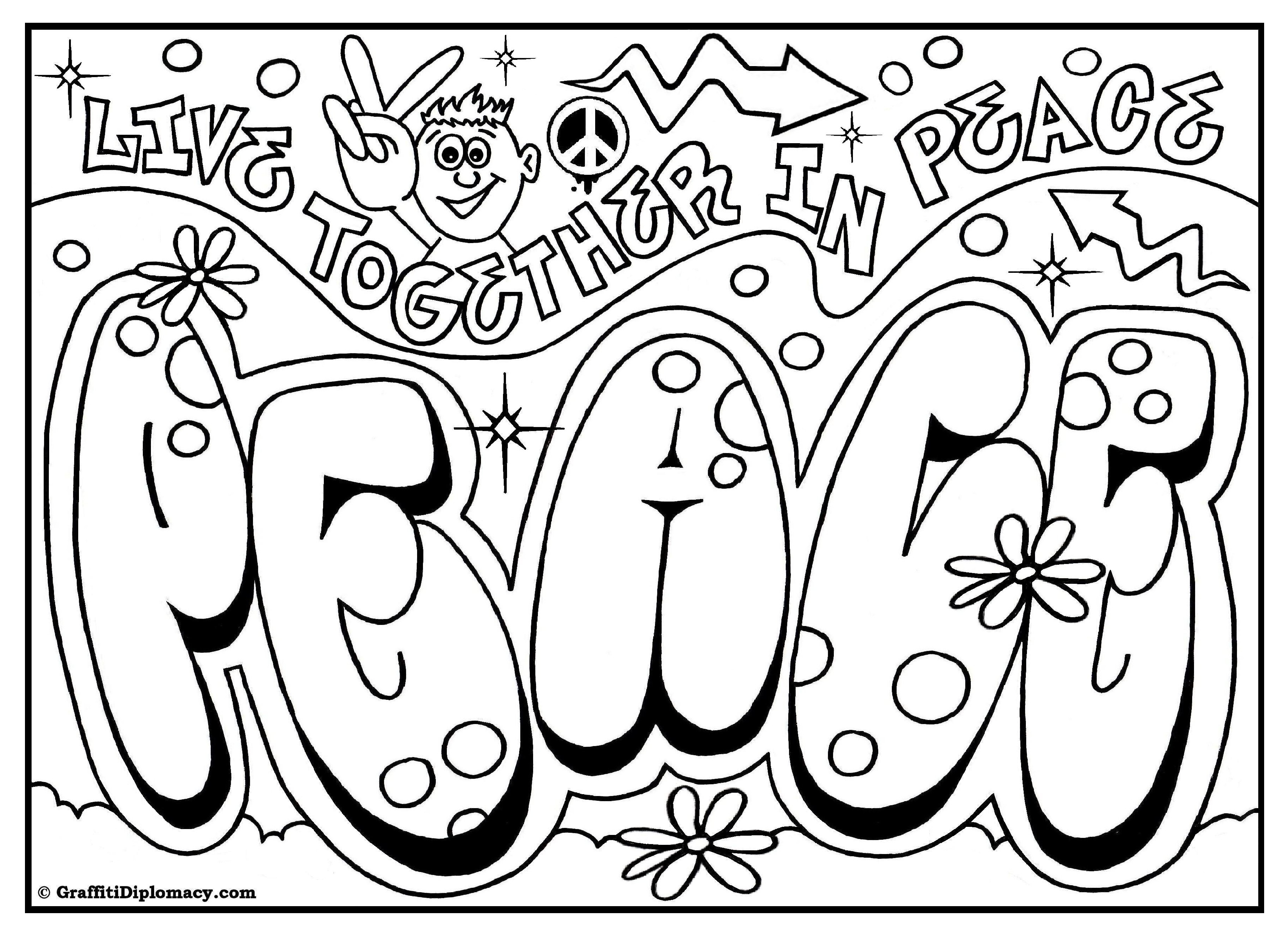My Room Coloring Pages Omg Another Graffiti Coloring Book Of Room Signs Learn To Draw