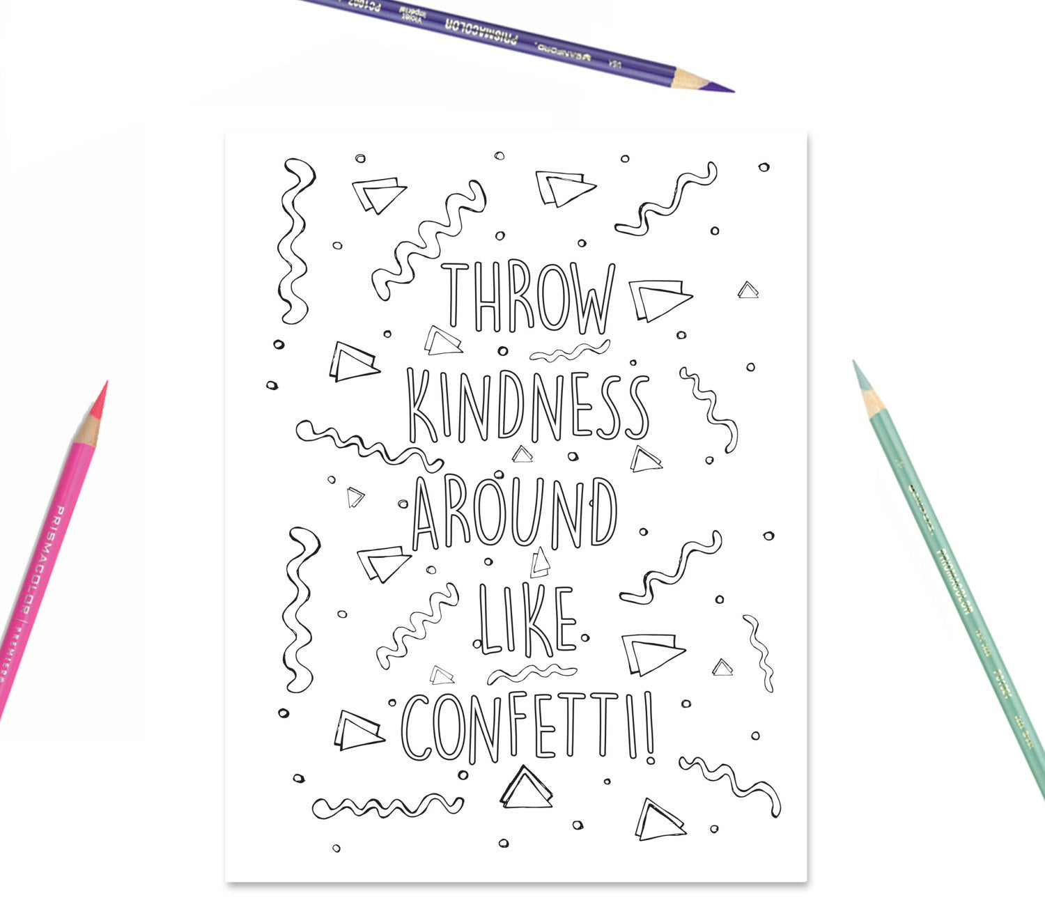 My Room Coloring Pages Printable Coloring Page Throw Kindness Around Like Confetti Kids Coloring Page Girls Room Decor Kids Party Activity
