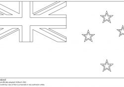 New Zealand Flag Coloring Page Flag Of New Zealand Coloring Page Free Printable Coloring Pages
