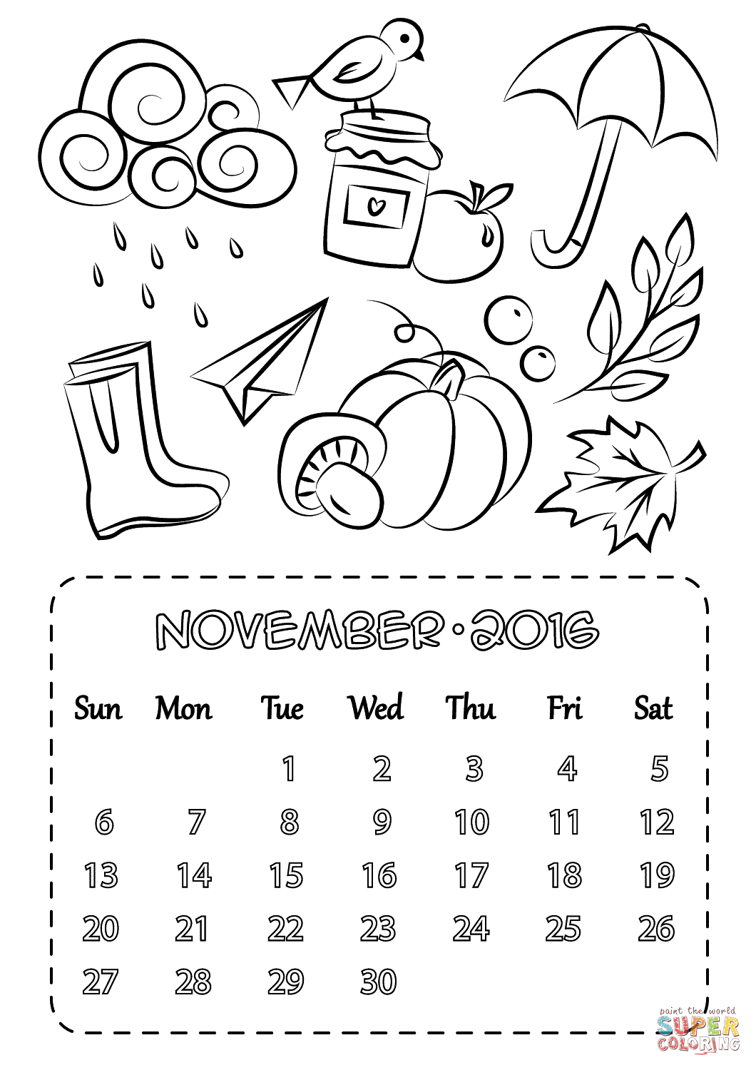 November Color Pages Coloring Book World Free November Coloring Sheets 1477892310the