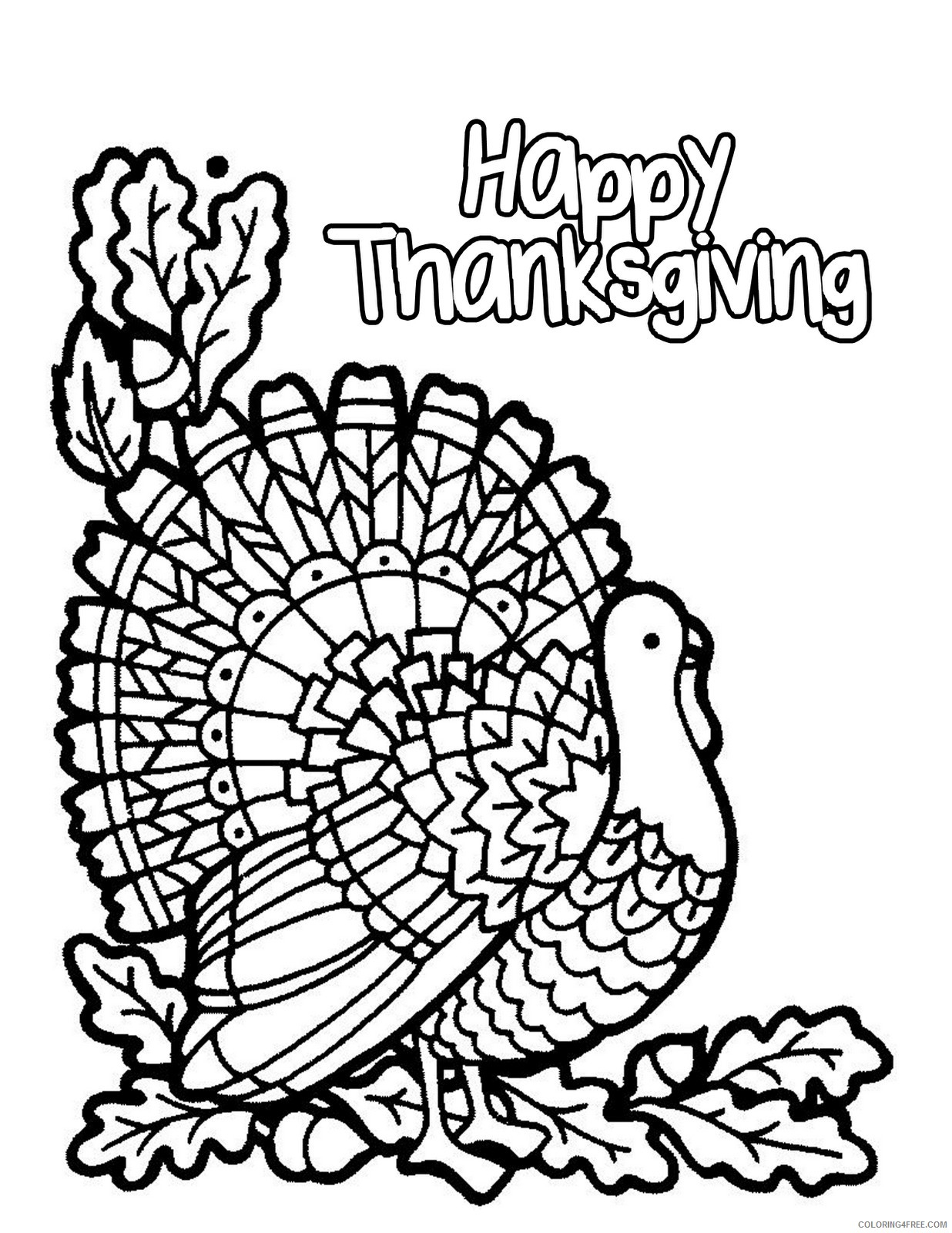November Color Pages November Coloring Pages Happy Thanksgiving Coloring4free