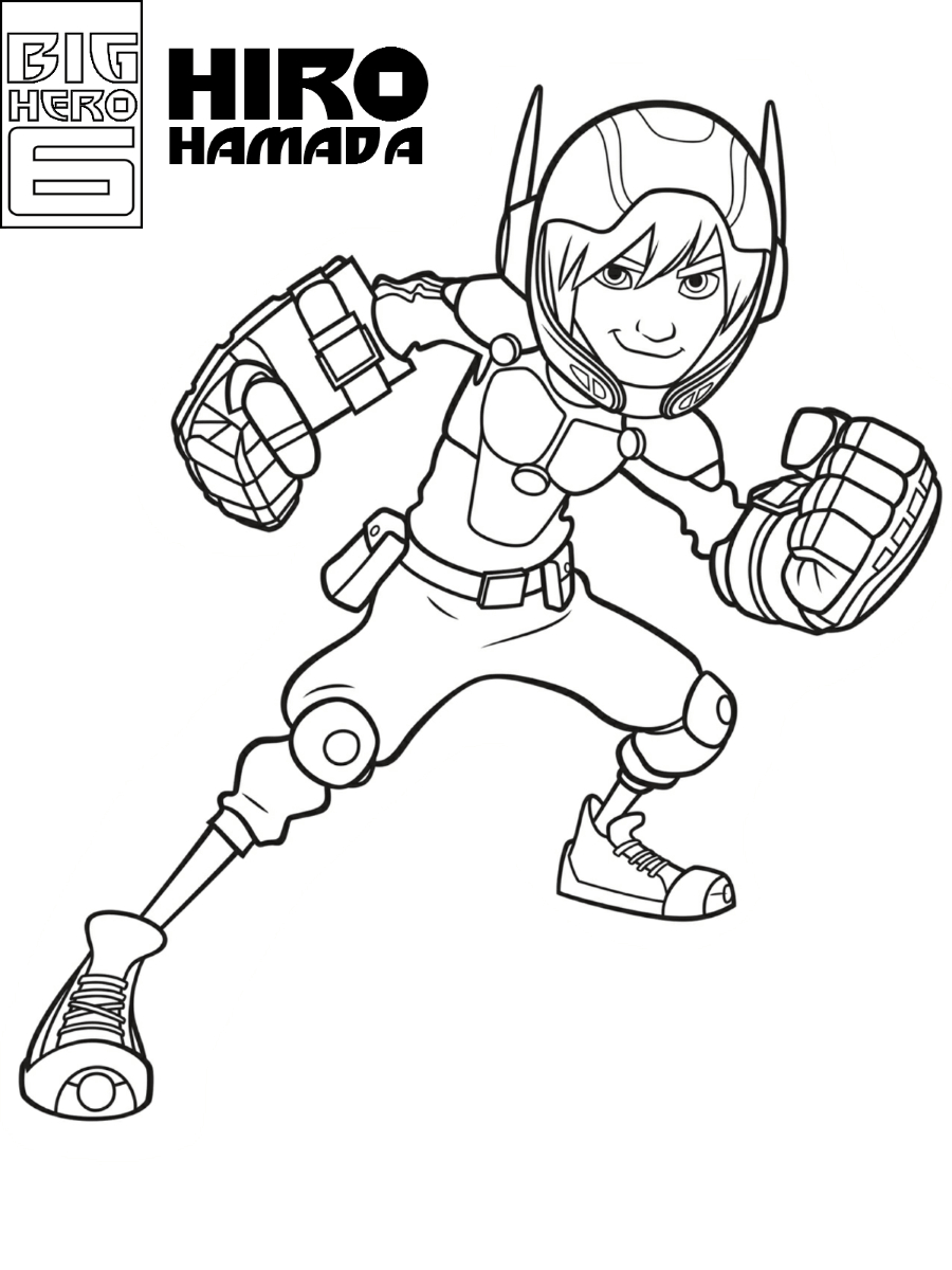 Number 6 Coloring Page Big Hero 6 Coloring Pages Print And Color