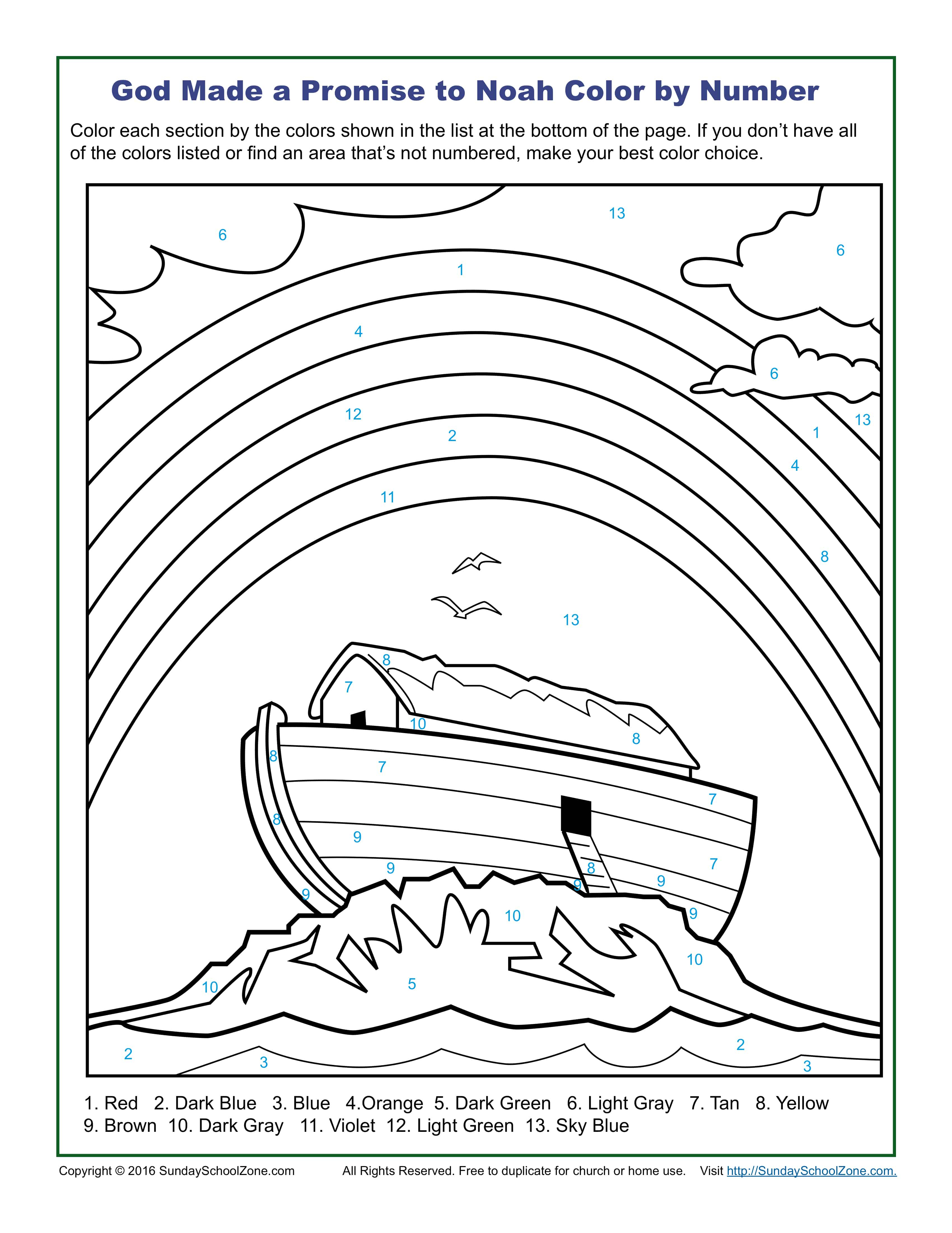 Number 6 Coloring Page Color Number Bible Coloring Pages On Sunday School Zone
