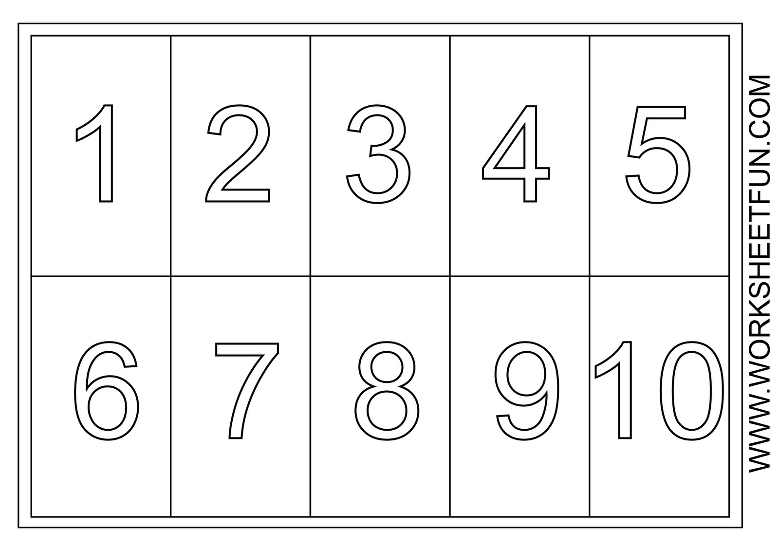 Number 6 Coloring Page Coloring Pages Numbers 1 5 Amazing Number Mr Printables Regarding 11