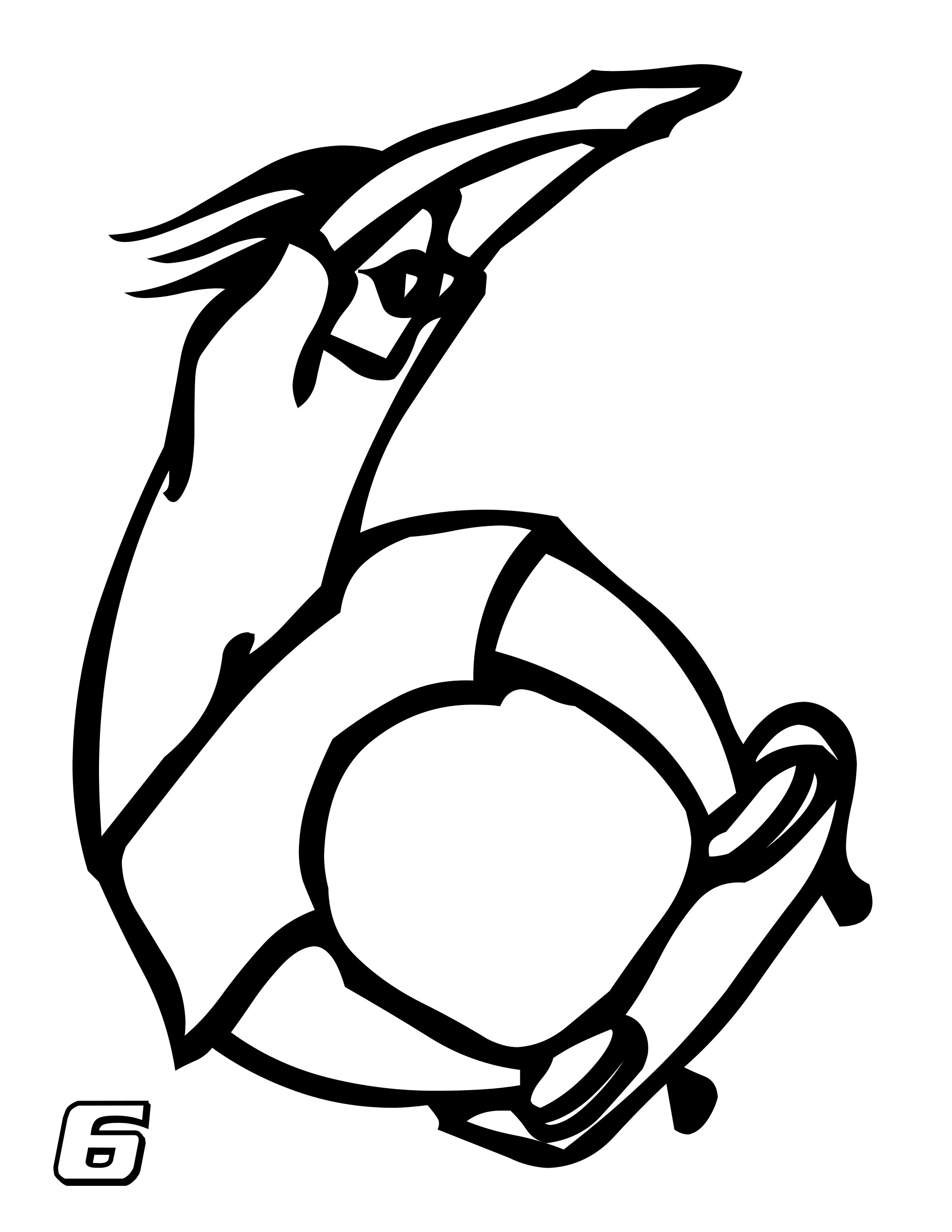 Number 6 Coloring Page Free Printable Number Coloring Pages For Kids