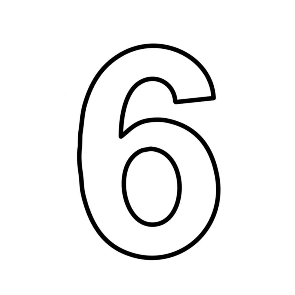 Number 6 Coloring Page Letters And Numbers Number 6 Six