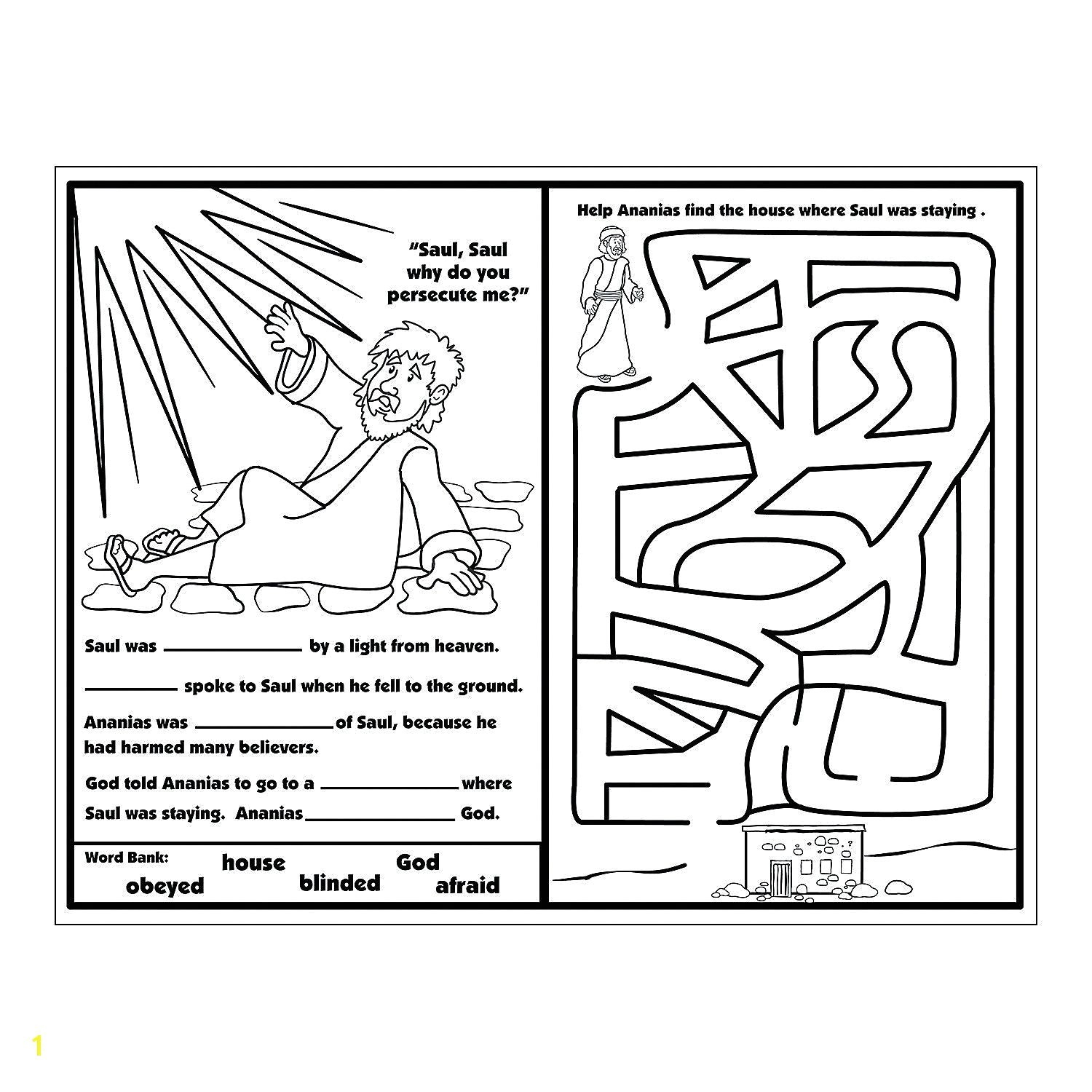 Paul Coloring Pages Ananias And Paul Coloring Pages Beautiful Part 160