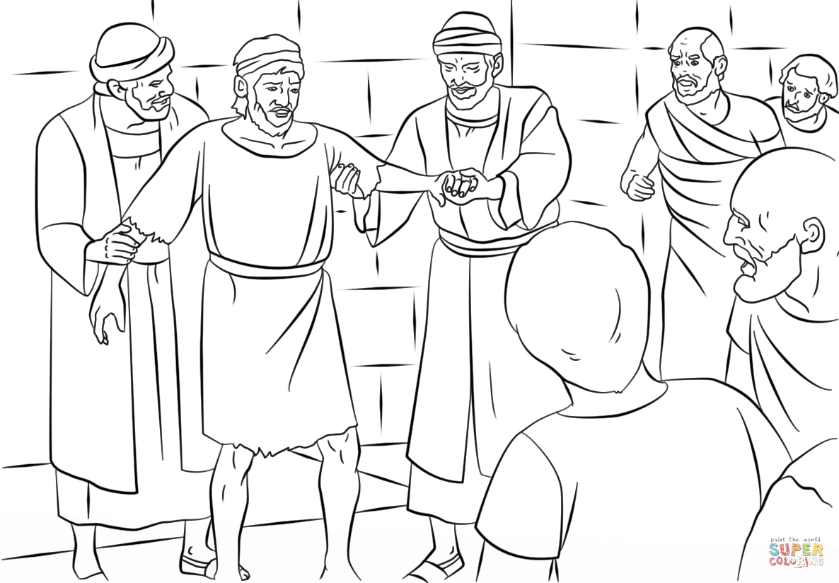 Paul Coloring Pages Paul And Barnabas In Lystra Coloring Page Free Printable Coloring