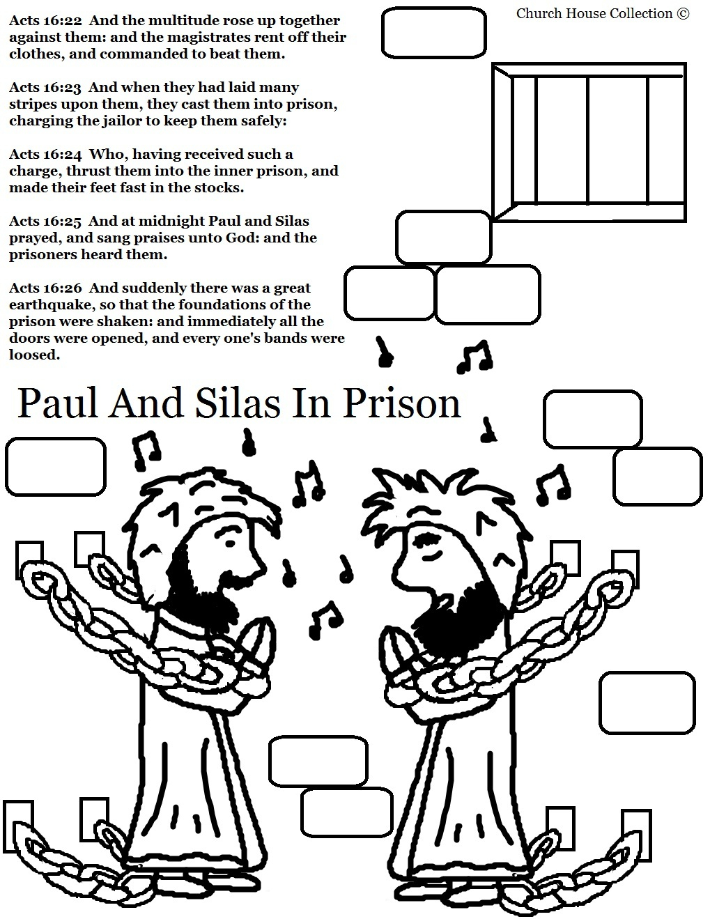 Paul Coloring Pages Paul And Silas Coloring Pages