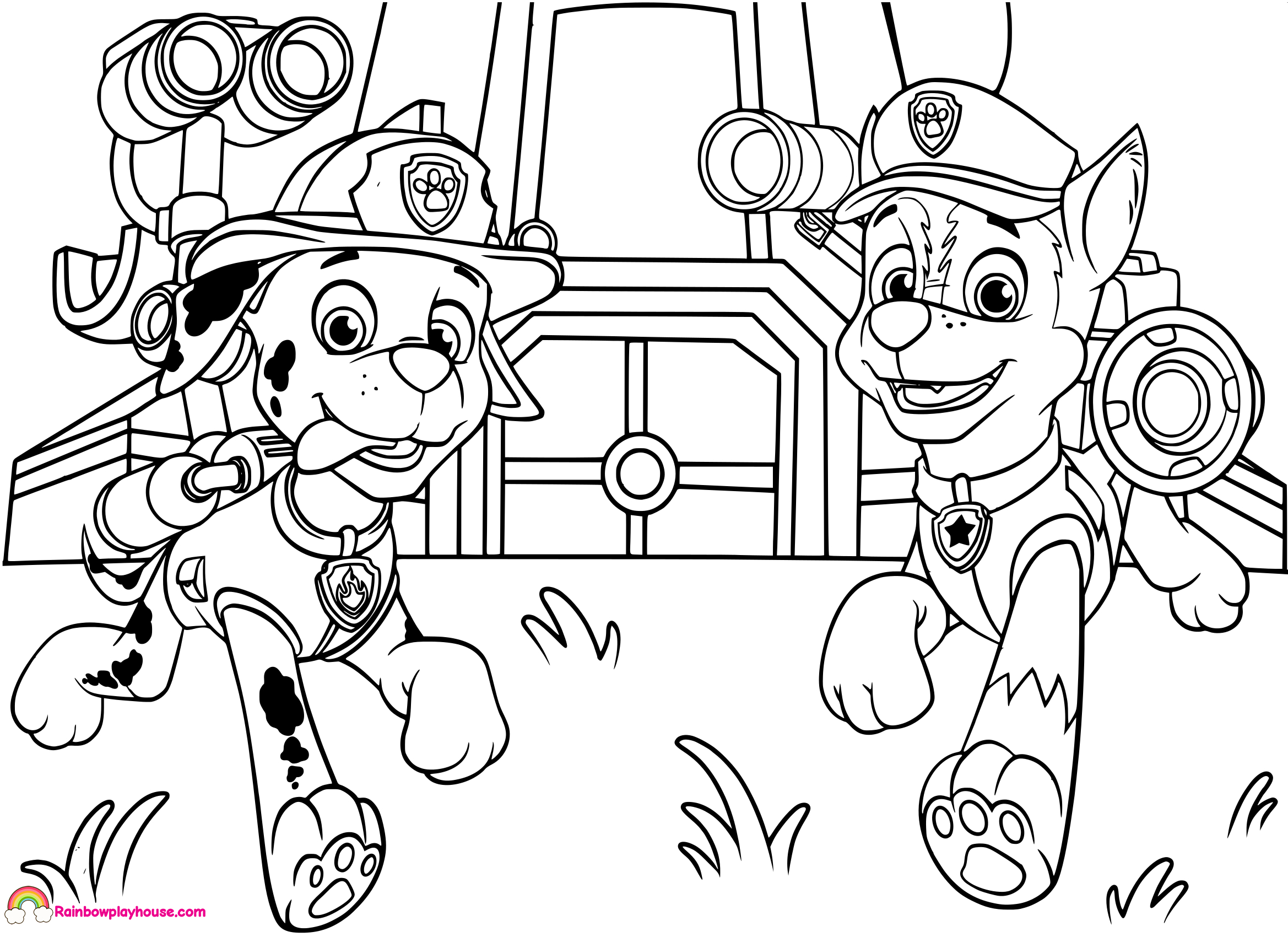 Paw Patrol Coloring Pages Marshall Coloring Pages Paw Patrol Ryder Coloring Pages To Print Stunning