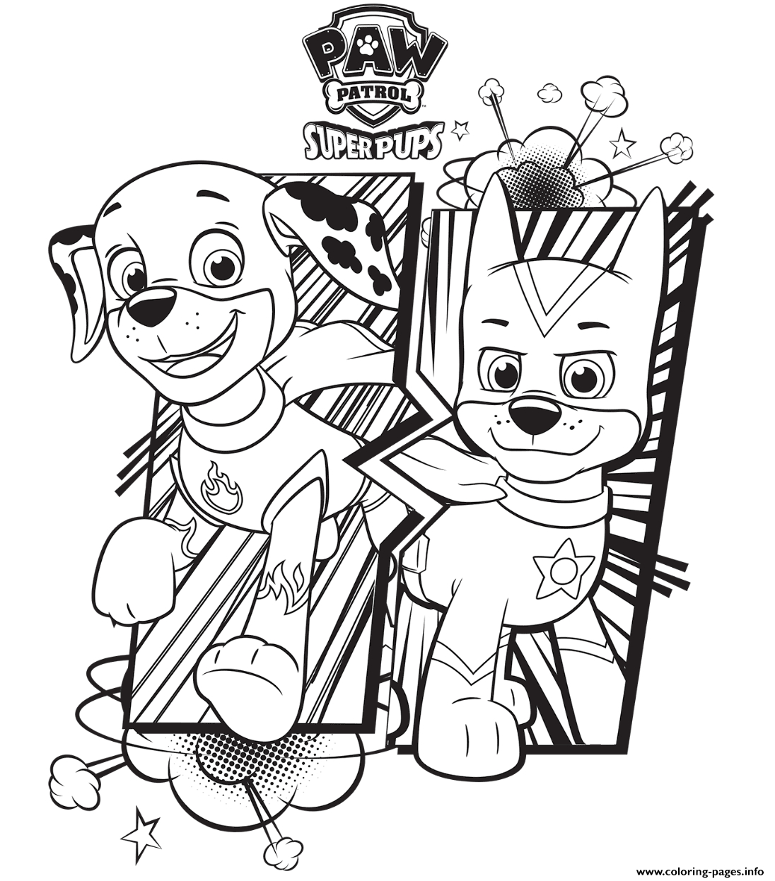 Paw Patrol Coloring Pages Marshall Free Paw Patrol Coloring Pages Happiness Is Homemade