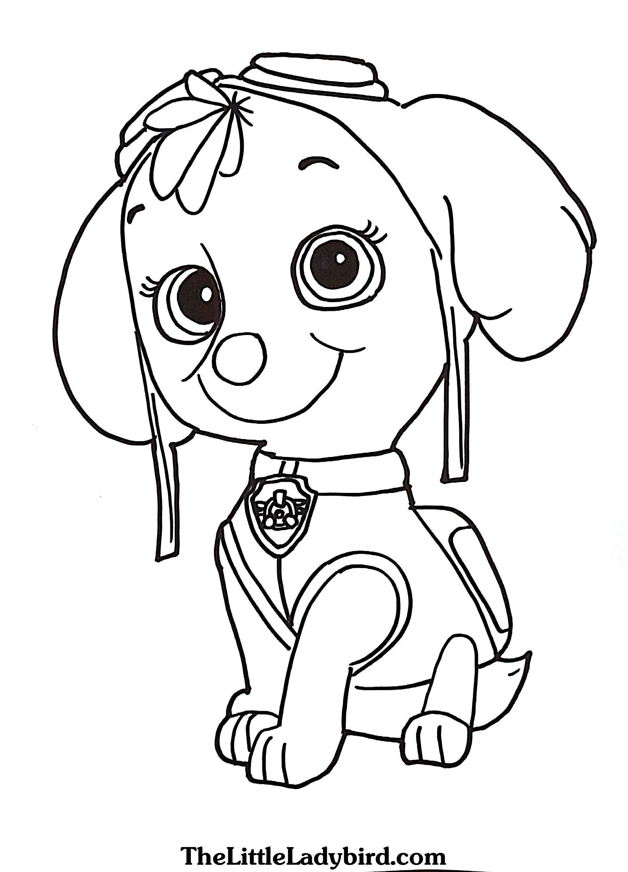 Paw Patrol Coloring Pages Marshall Marshall Paw Patrol Coloring Page At Getdrawings Free For