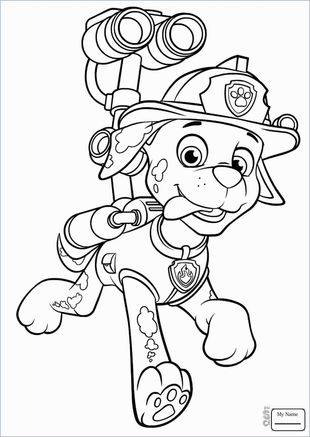 Paw Patrol Coloring Pages Marshall Marshall Paw Patrol Drawing At Paintingvalley Explore
