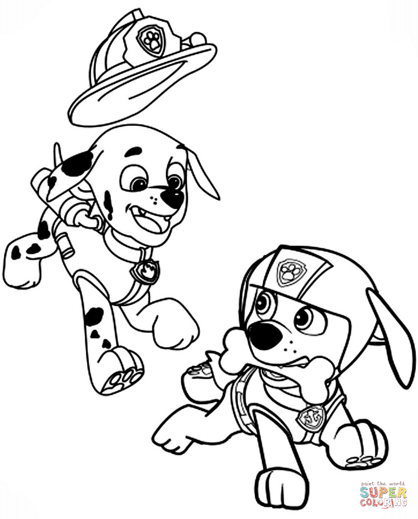 Paw Patrol Coloring Pages Marshall Paw Patrol Coloring Pages Free Coloring Pages